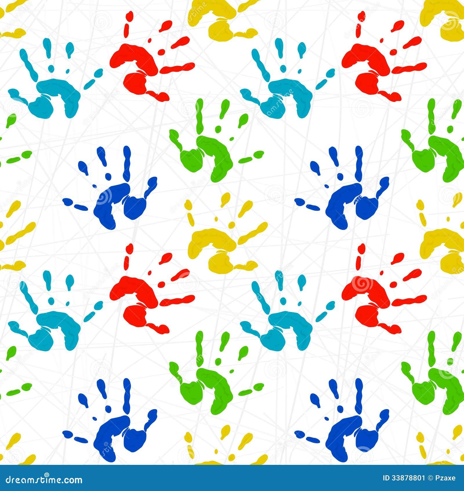 Textura incons til con las impresiones coloridas del ni o pal - Papel para paredes infantiles ...