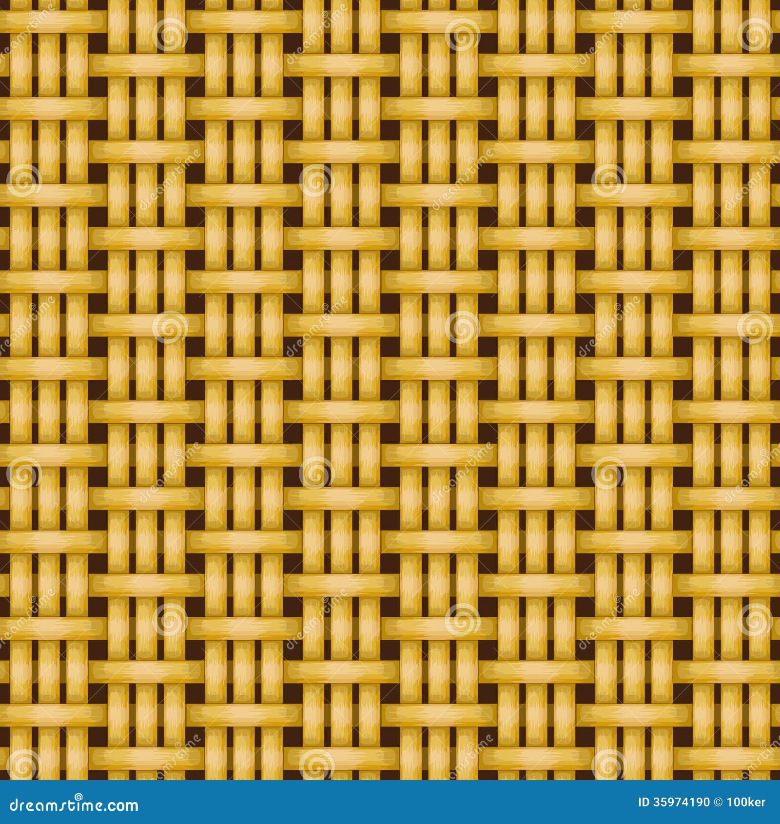 Textura inconsútil de mimbre del modelo de la cestería