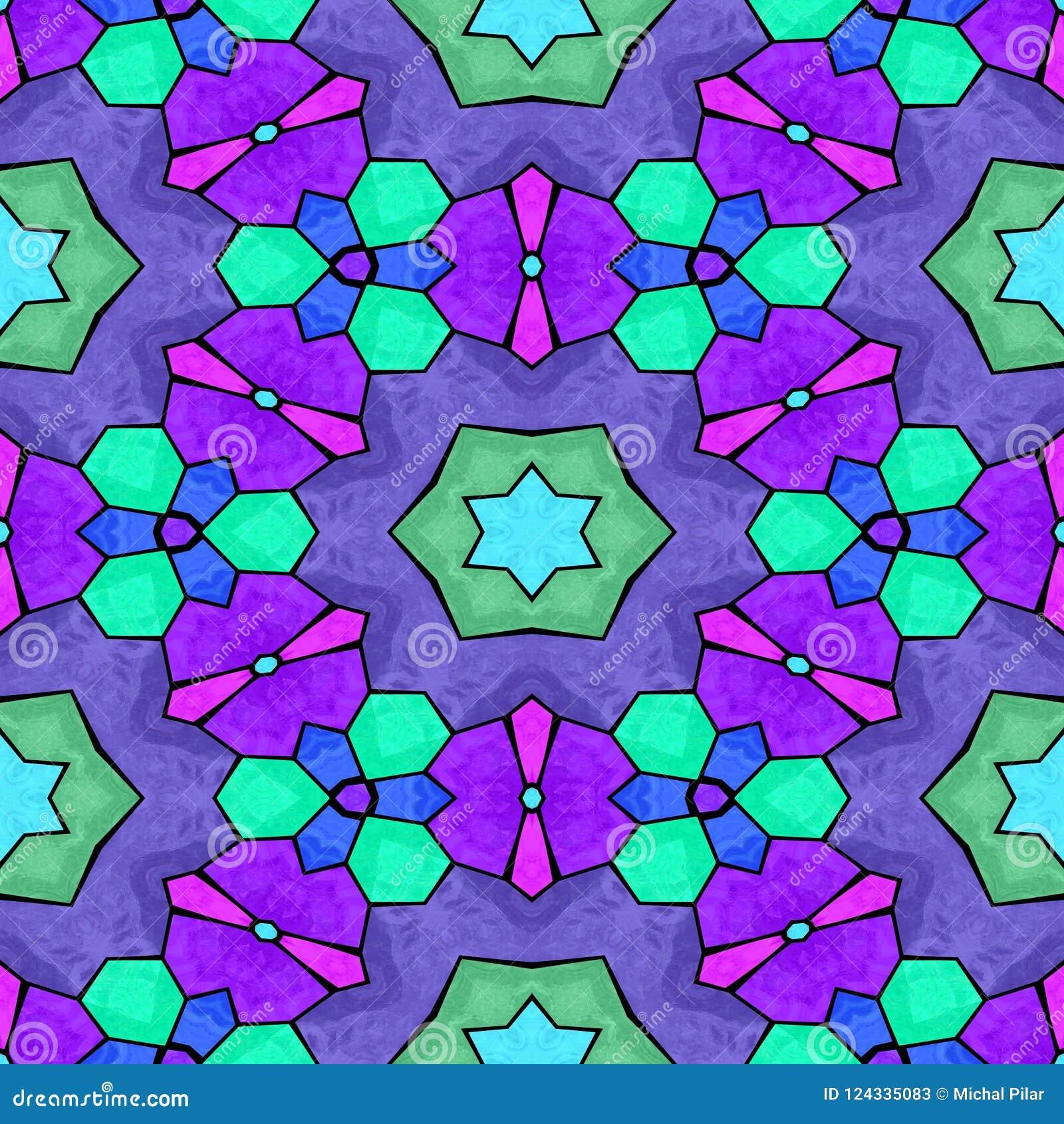 Textura inconsútil del caleidoscopio multicolor