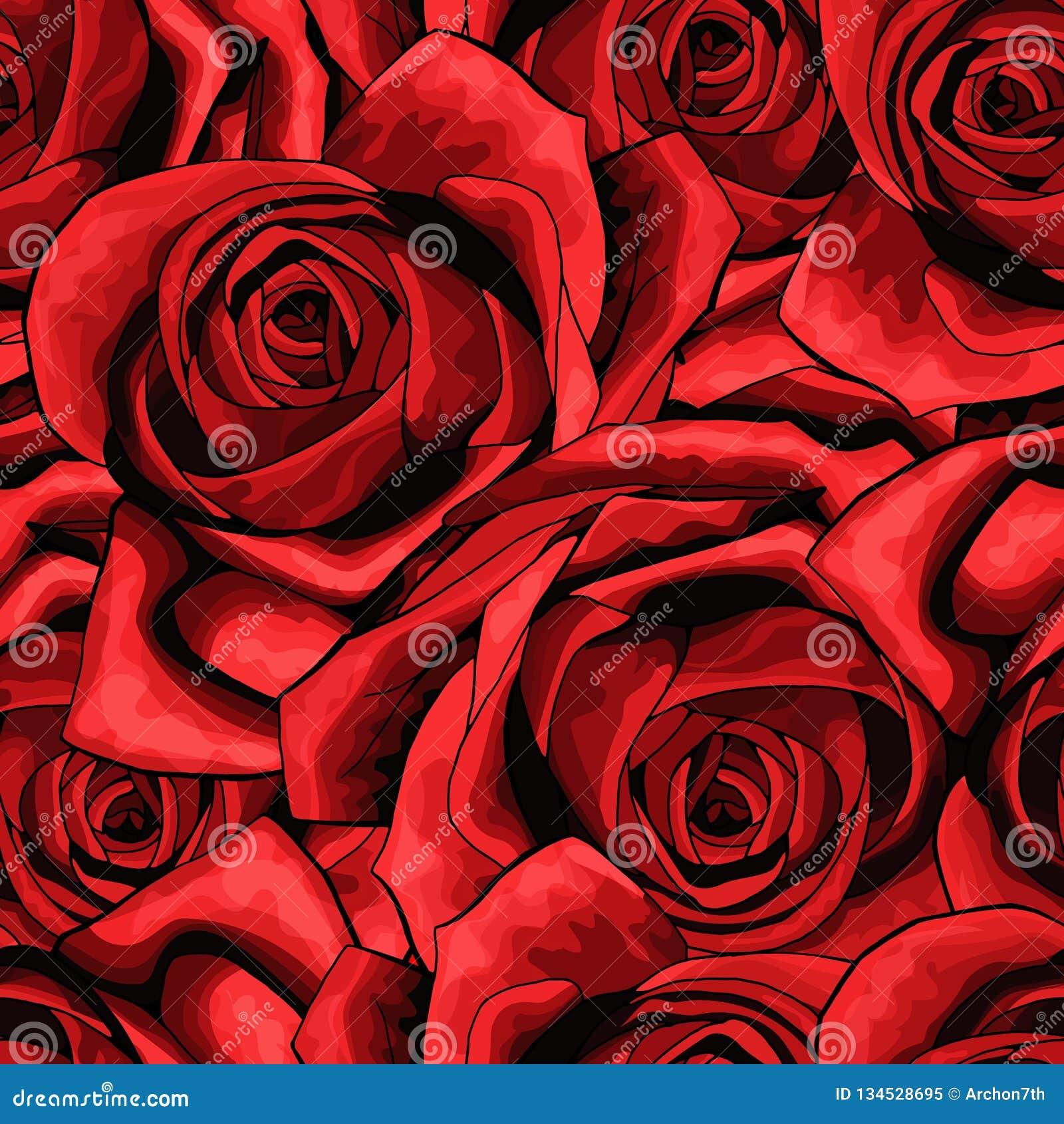 Textura inconsútil del fondo del modelo de la flor de Rose conveniente para imprimir la materia textil