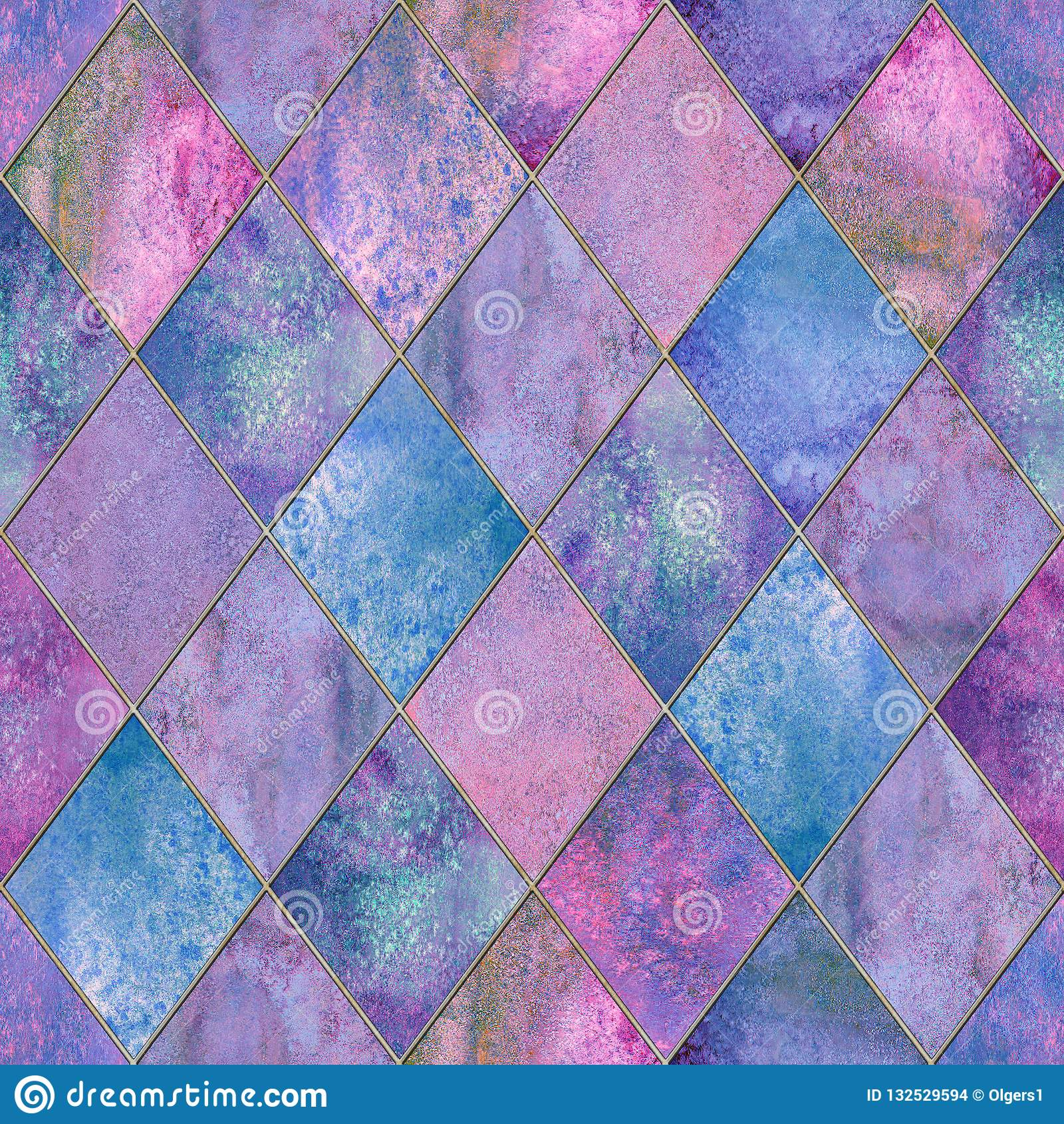 Textura inconsútil del modelo de la acuarela geométrica del extracto de Argyle