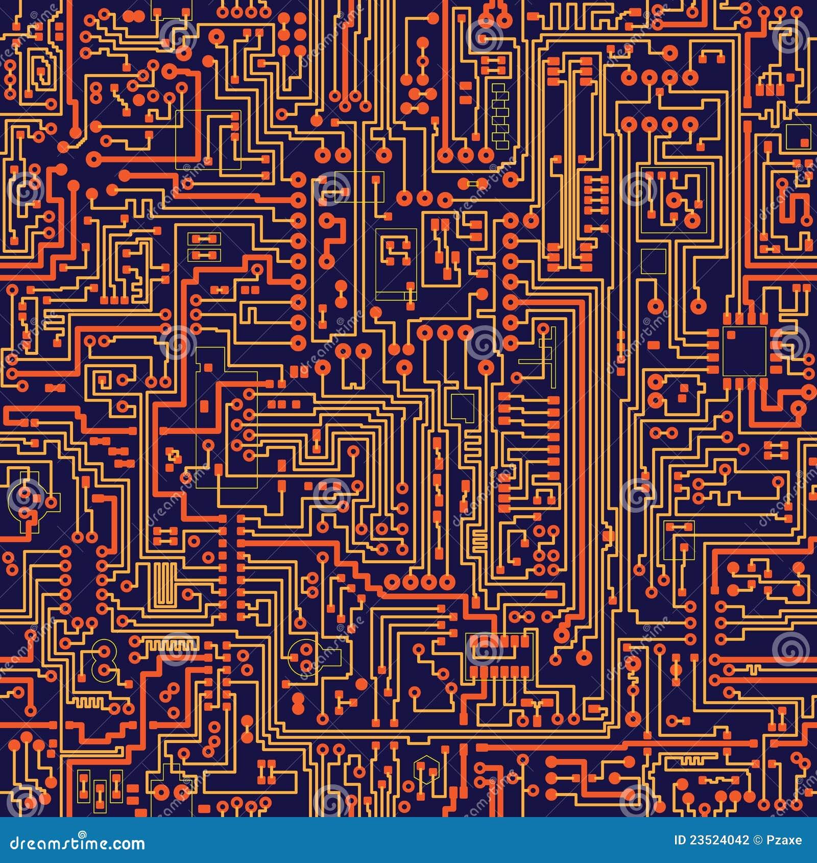 Textura inconsútil del vector - tarjeta de circuitos
