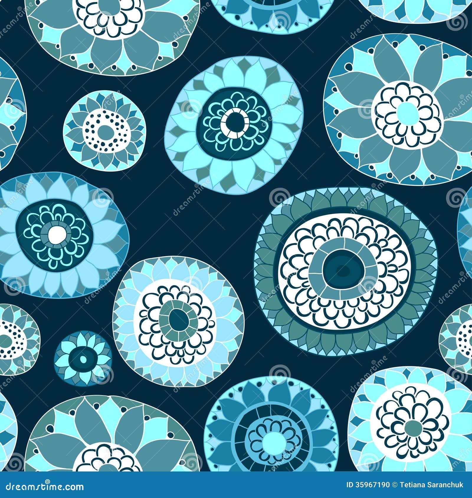 Textura inconsútil floral adornada,