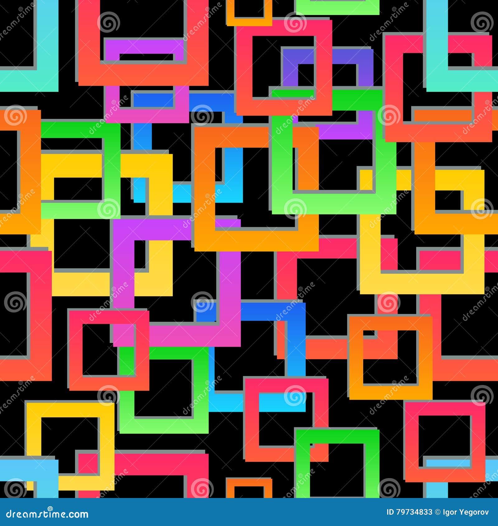 Textura inconsútil Modelo geométrico abstracto Fondo colorido moderno del mosaico