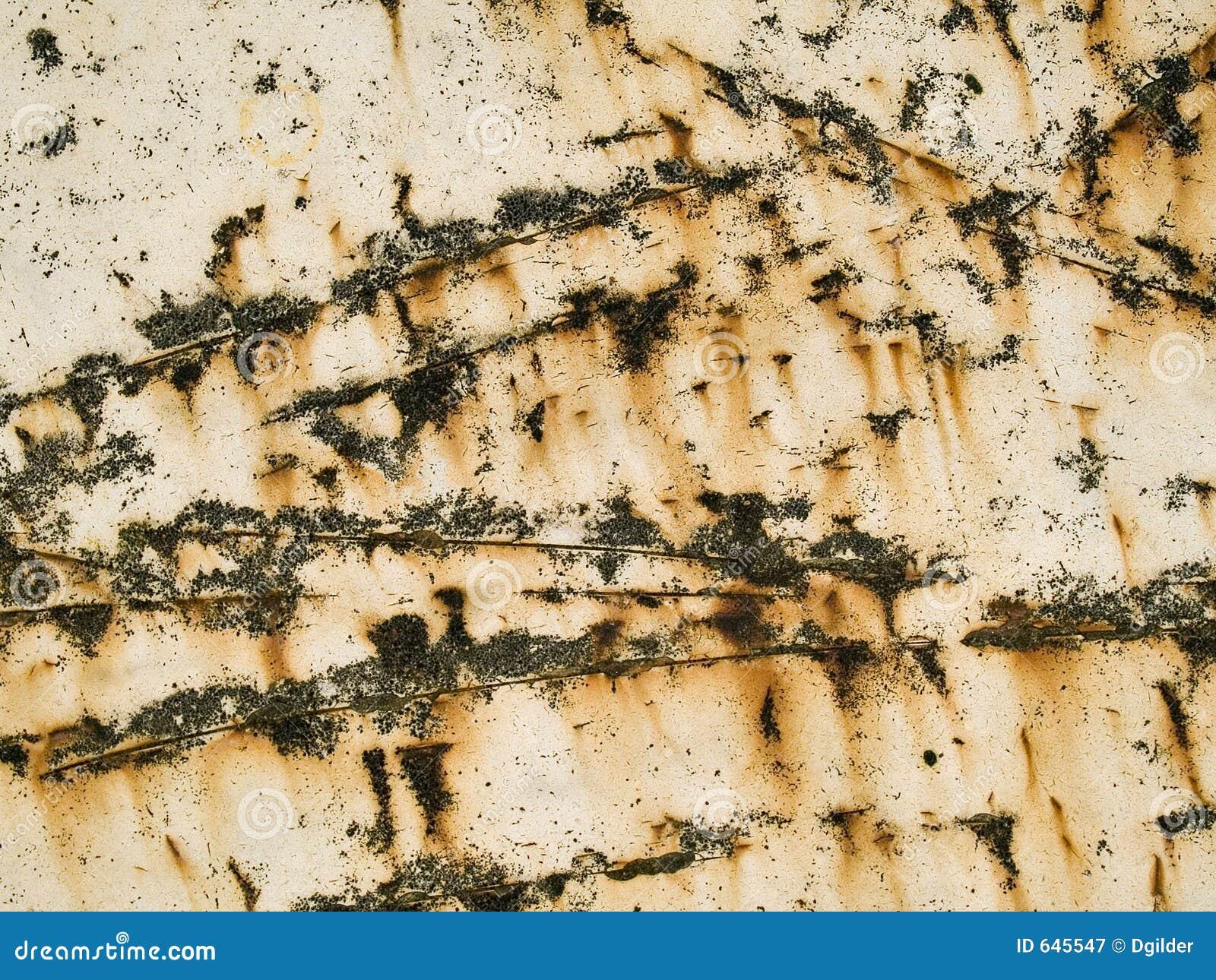 Textura macro - metal - riscada e oxidada
