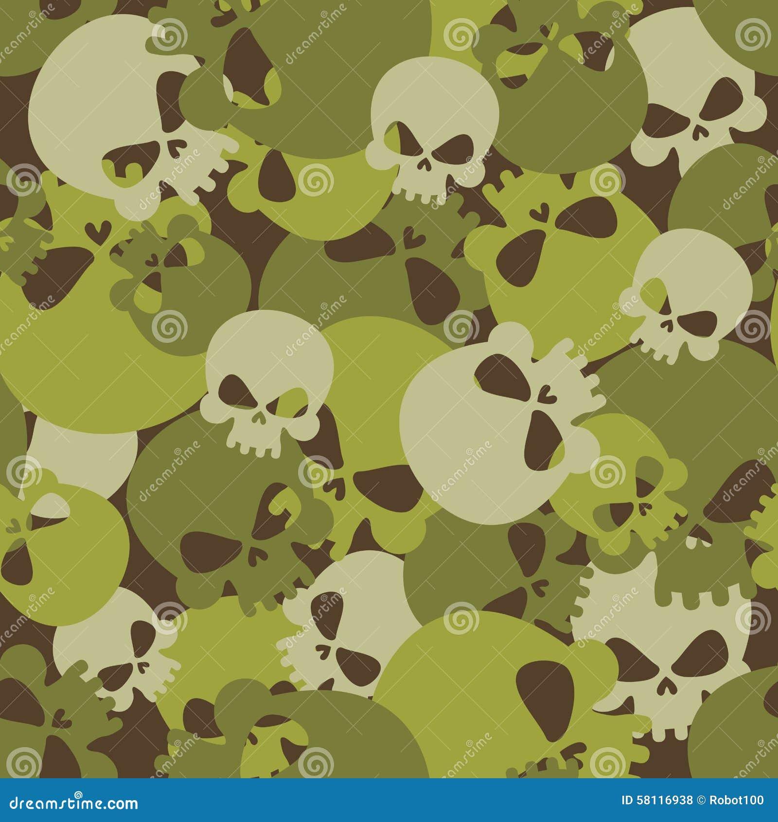 Textura Militar De Cráneos Modelo Inconsútil Del Ejército Del ...