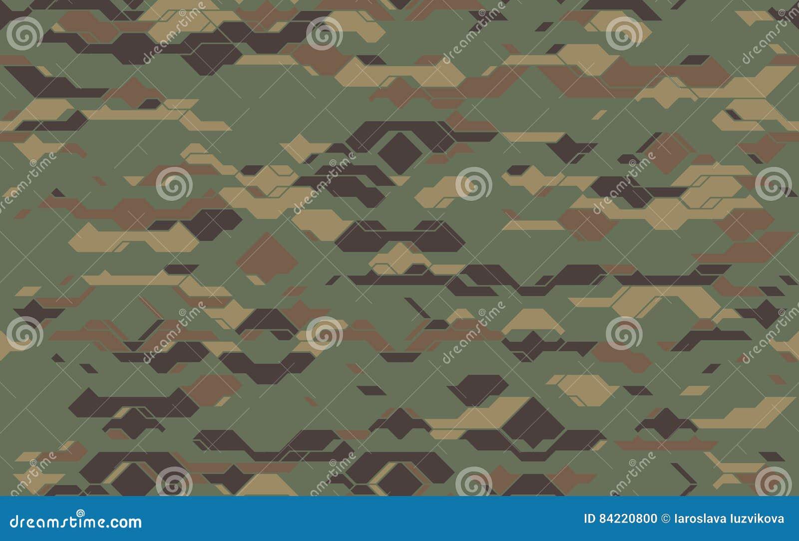 Textura Moderna Inconsútil De La Tela Del Camuflaje Del Ejército ...
