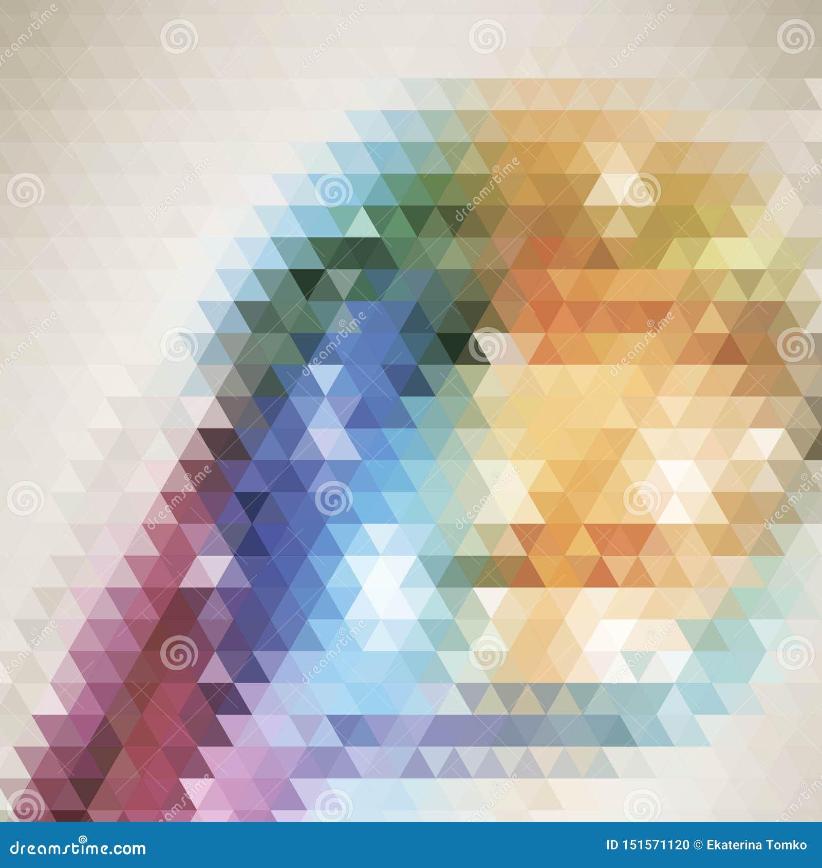 Textura multicolora oscura de los tri?ngulos de la pendiente del vector con un coraz?n en un centro Ejemplo abstracto con tri?ngu