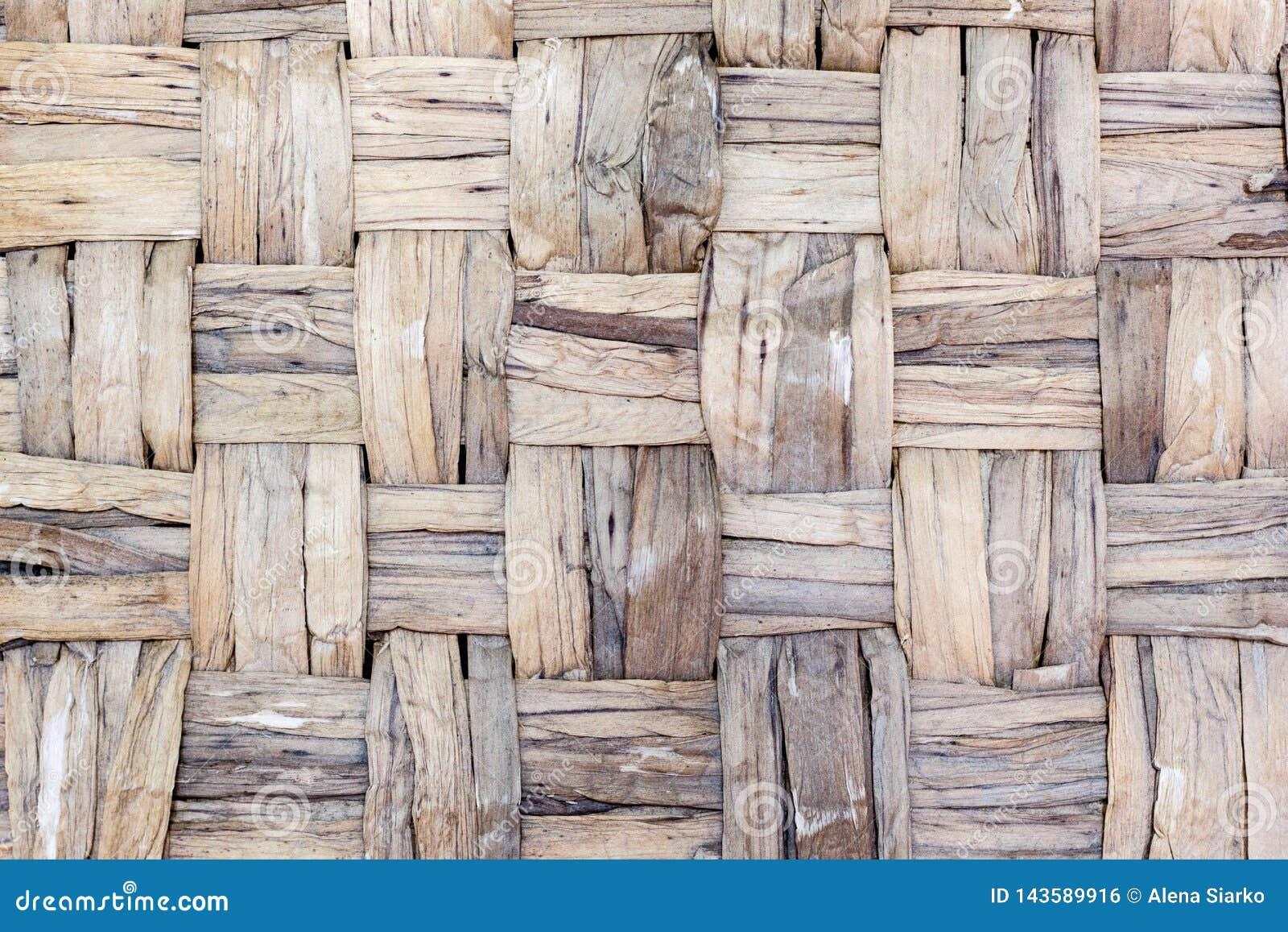 Textura natural da cesta tecida da palha