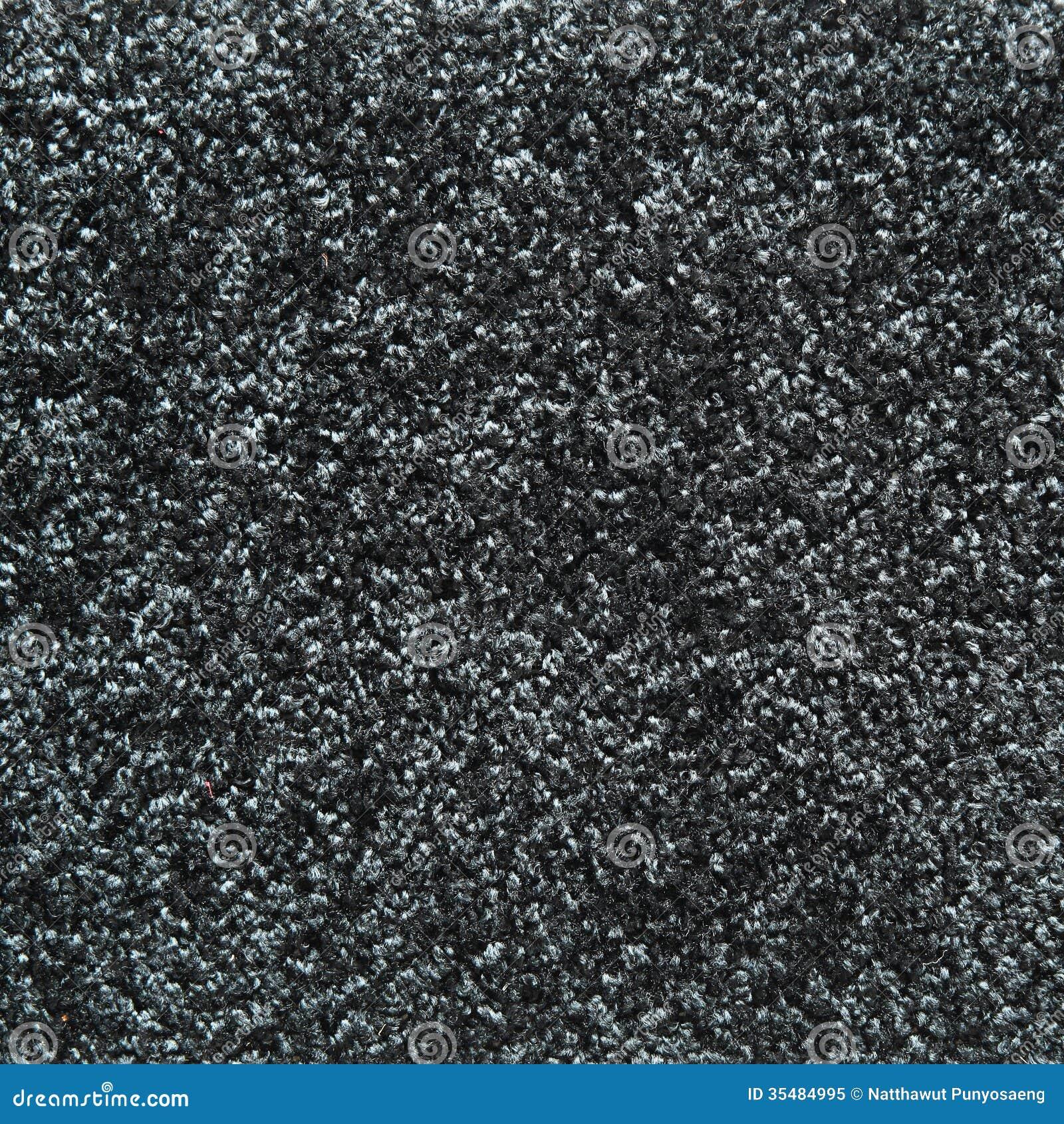 Textura Negra De La Alfombra Foto De Archivo Libre De