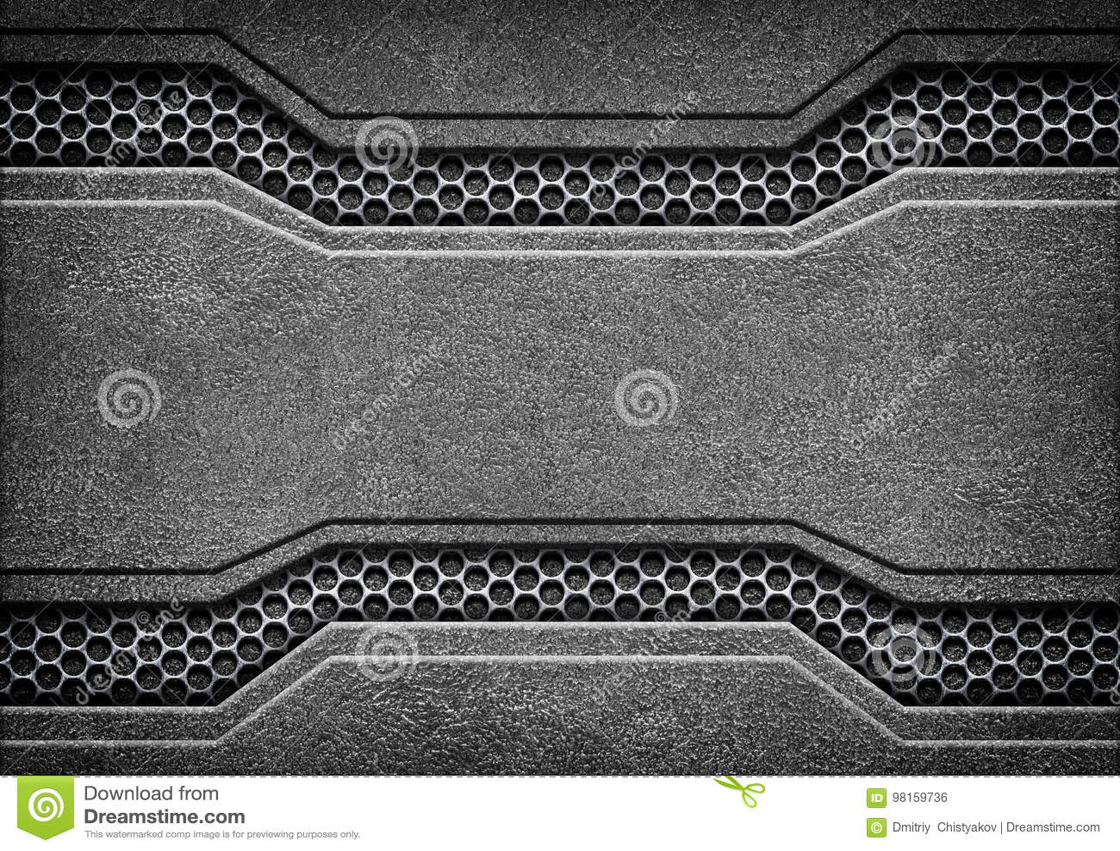 Textura negra de la placa de metal o de la armadura del grunge, 3d, ejemplo
