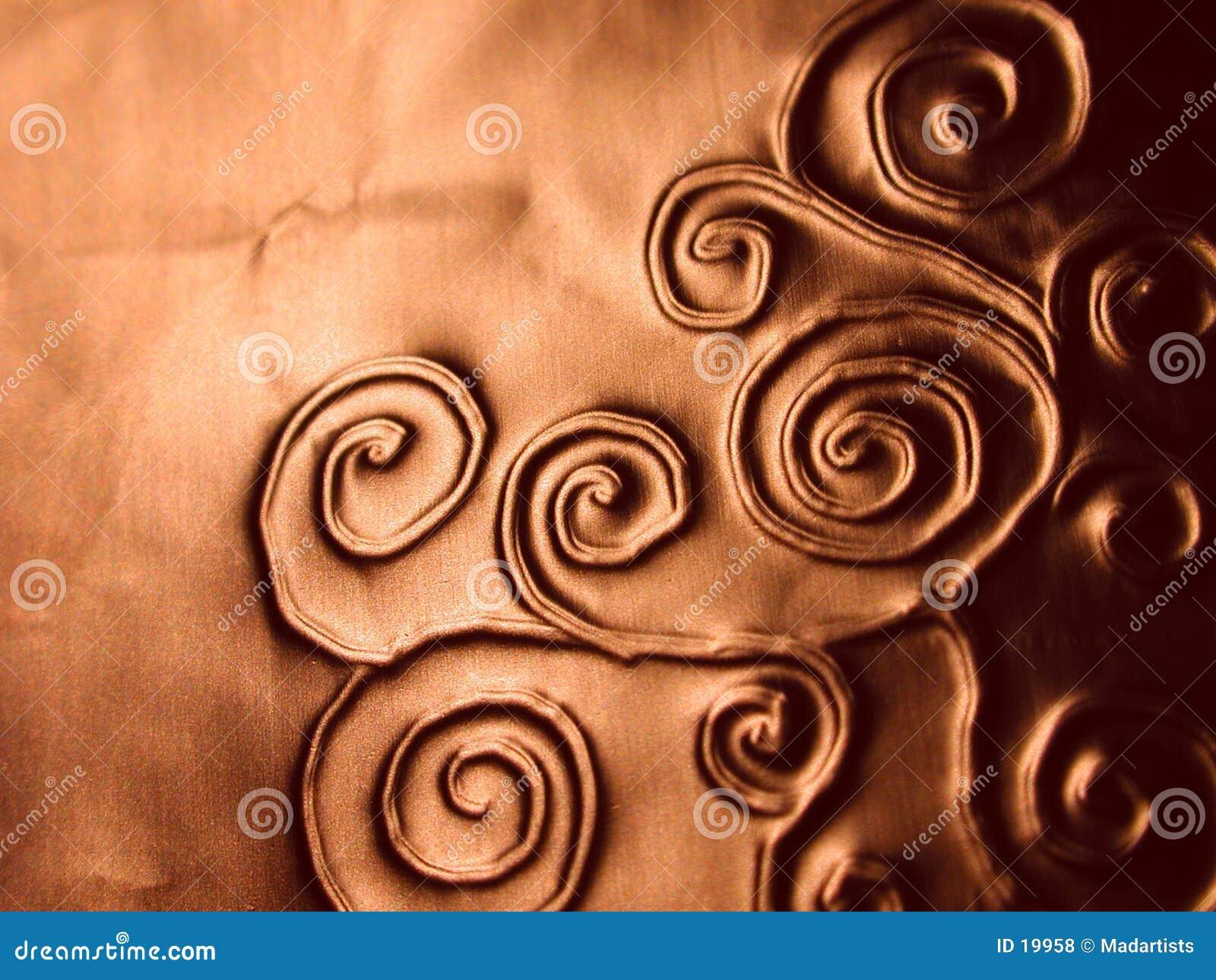 Textura ornamentado do teste padrão das espirais