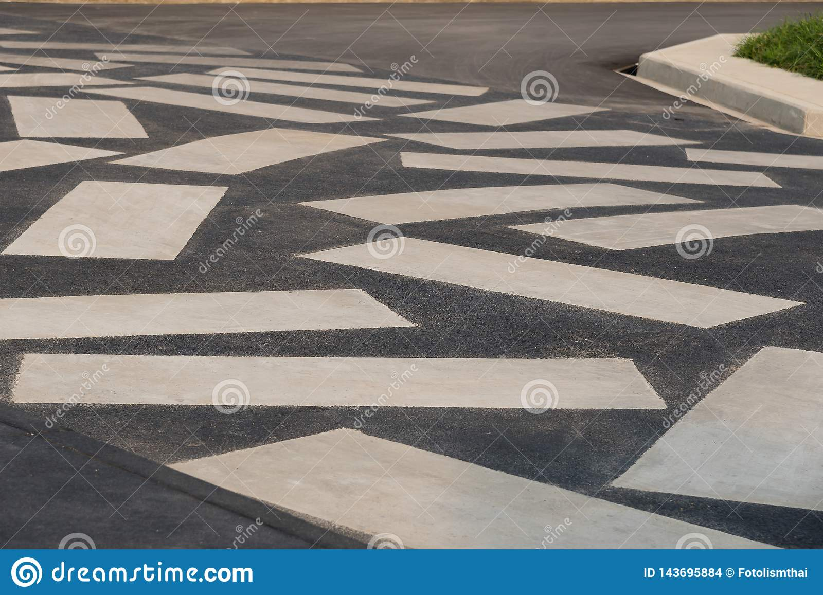 Textura ou teste padr?o de pavimentar a passagem