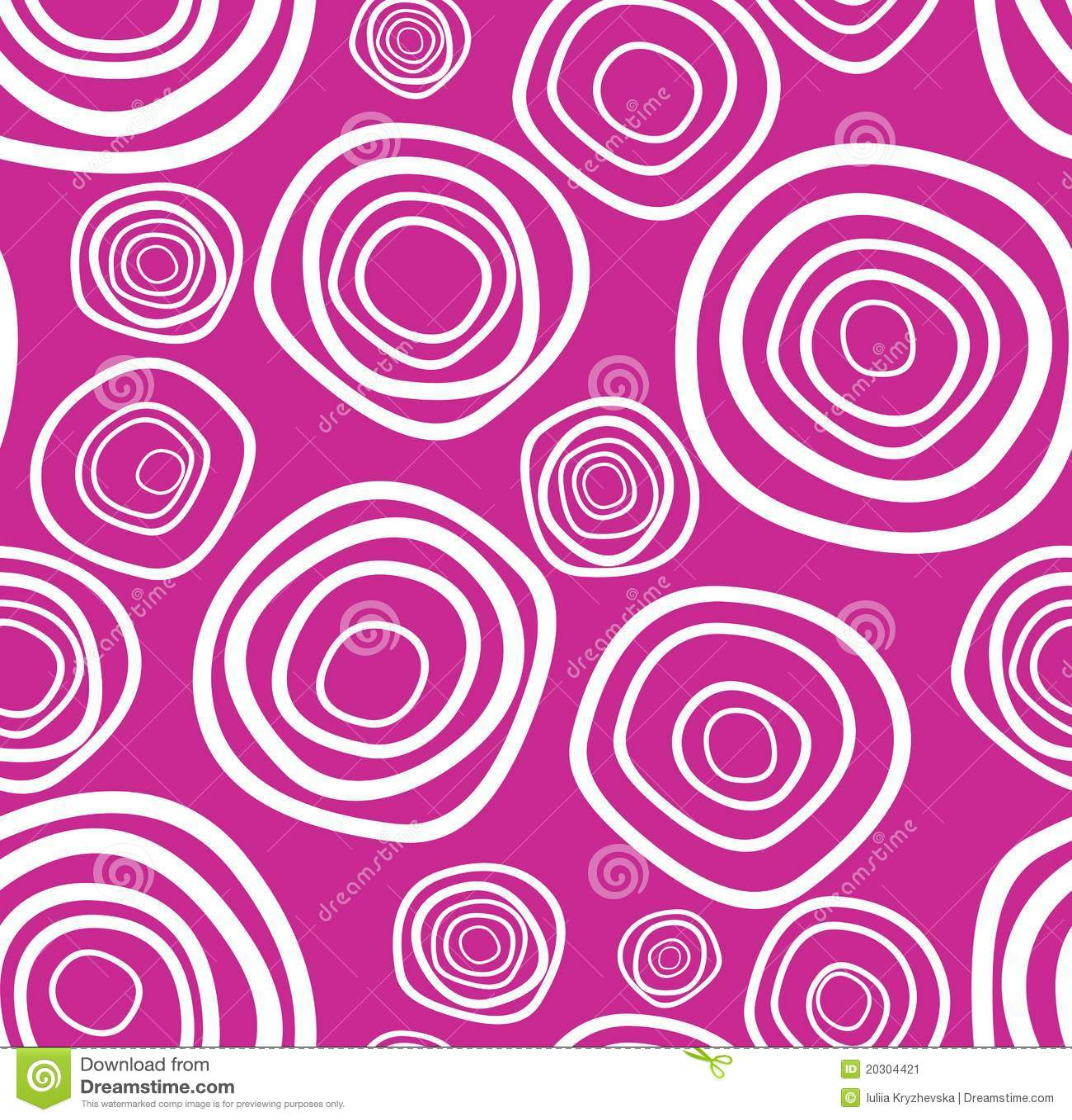 Textura púrpura handdrawn del círculo del vector inconsútil