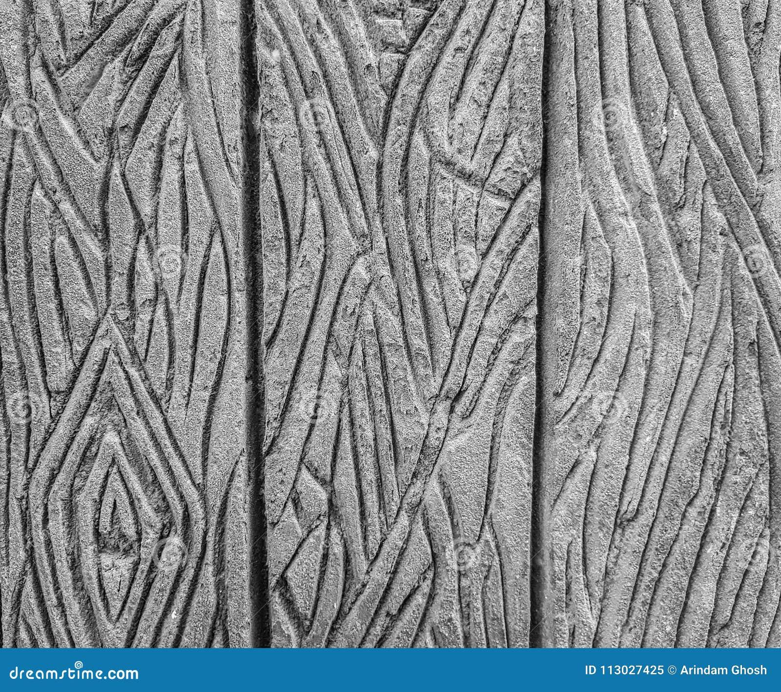 Textura profundamente grabada en fondo del modelo de la roca