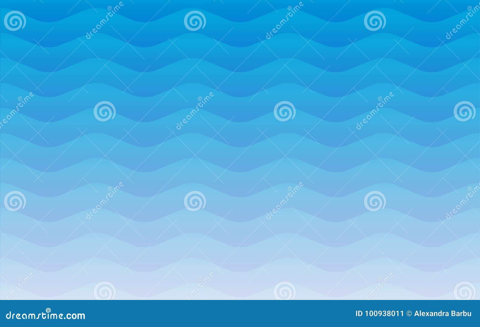 Textura repetitiva sem emenda geométrica do teste padrão do vetor das ondas de água