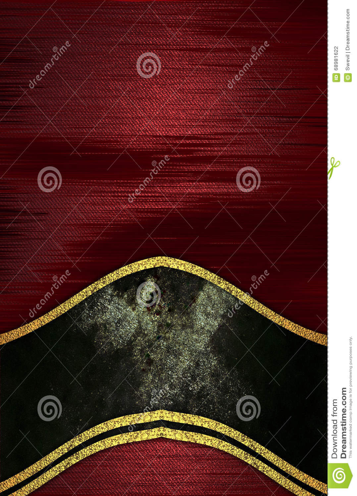 Textura roja con la decoración negra Plantilla para el diseño copie el espacio para el folleto o la invitación del aviso, fondo a
