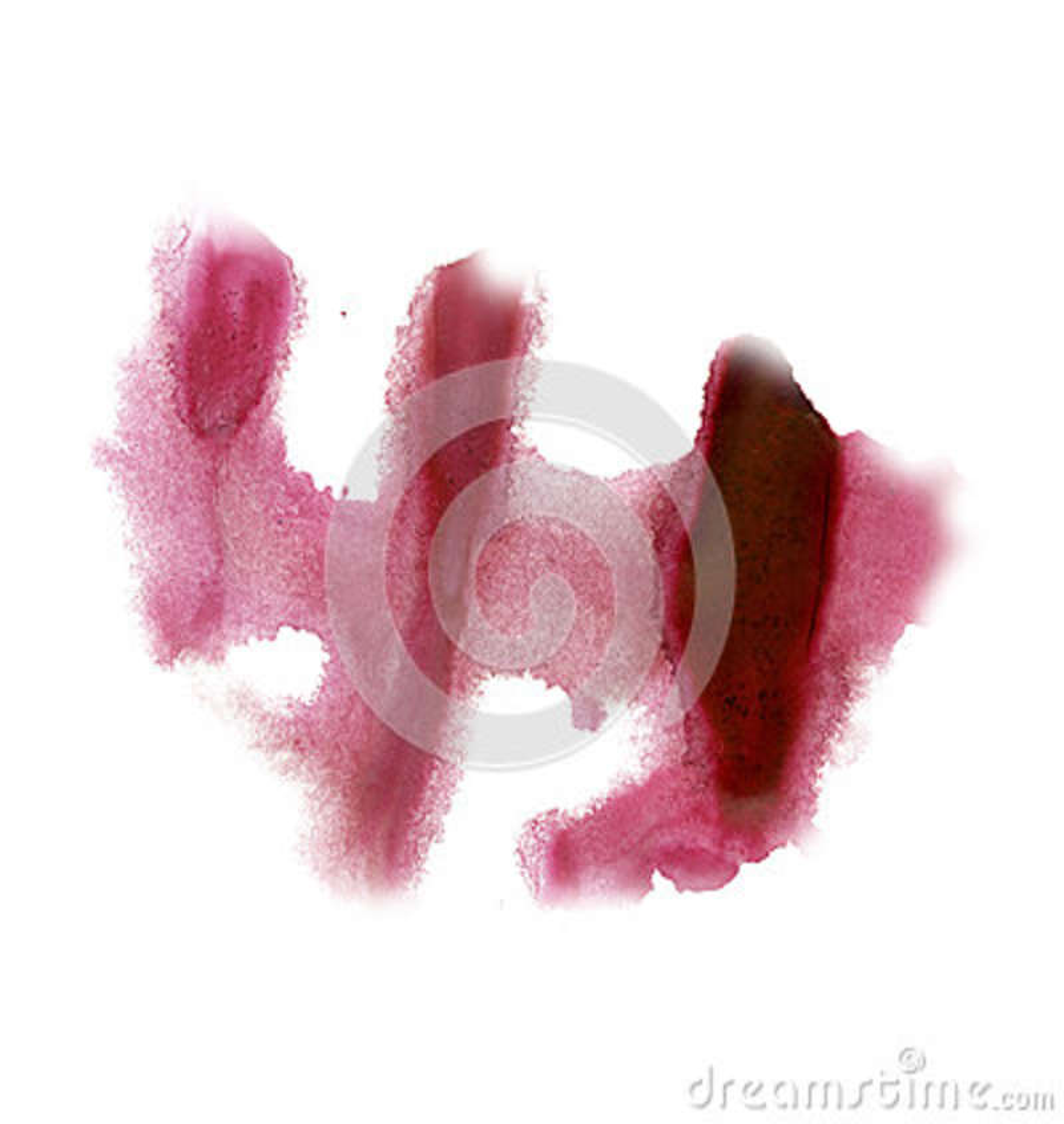 Textura roja de la mancha del punto macro líquido de la acuarela del tinte del watercolour de la salpicadura de la tinta aislada