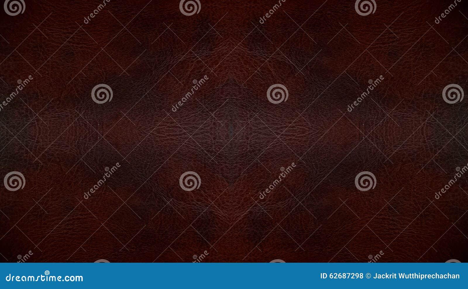 Textura sem emenda de couro escura usada do fundo do teste padrão de Brown para o material da mobília