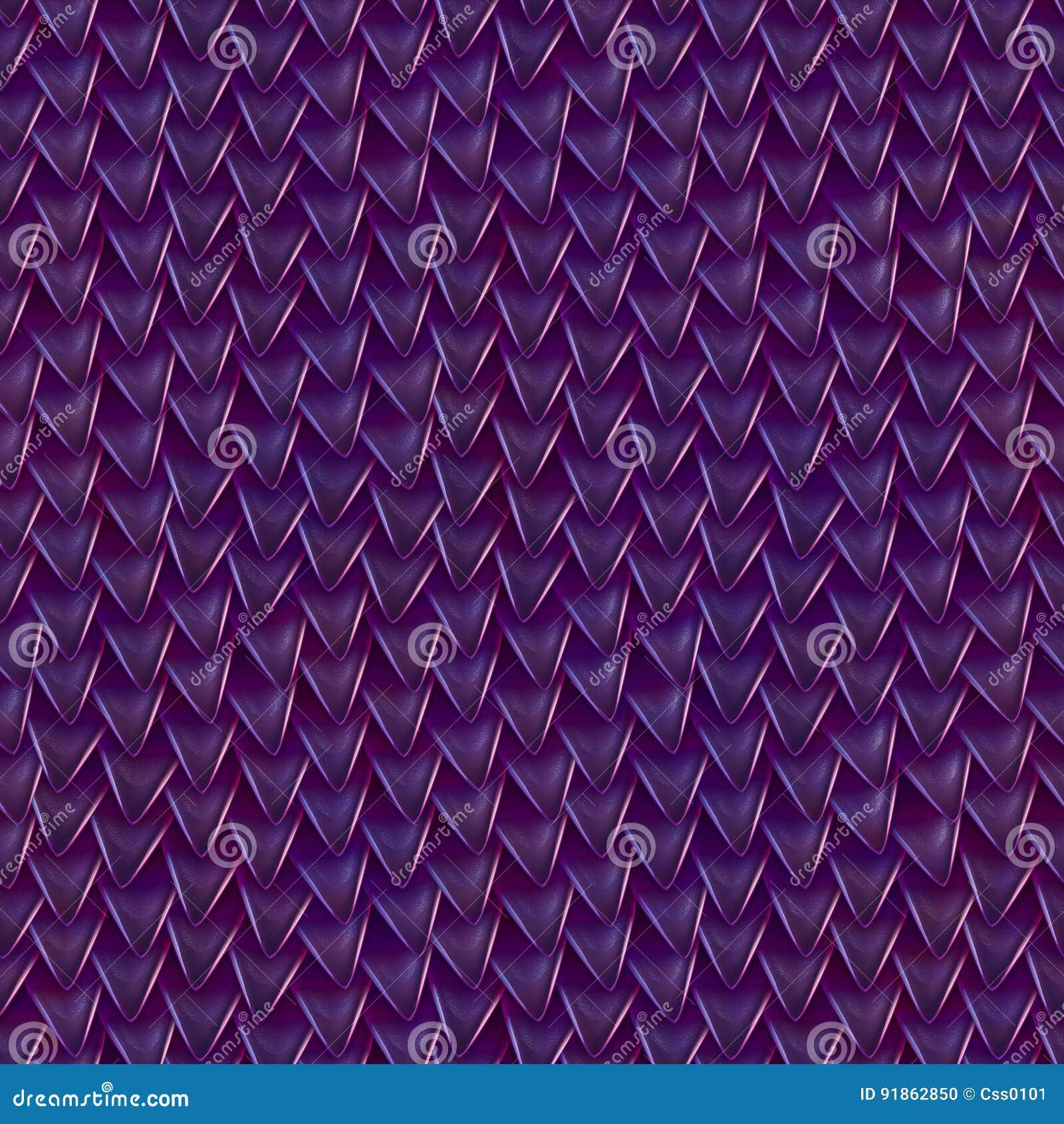 Textura sem emenda de escalas metálicas do dragão Teste padrão da pele do réptil