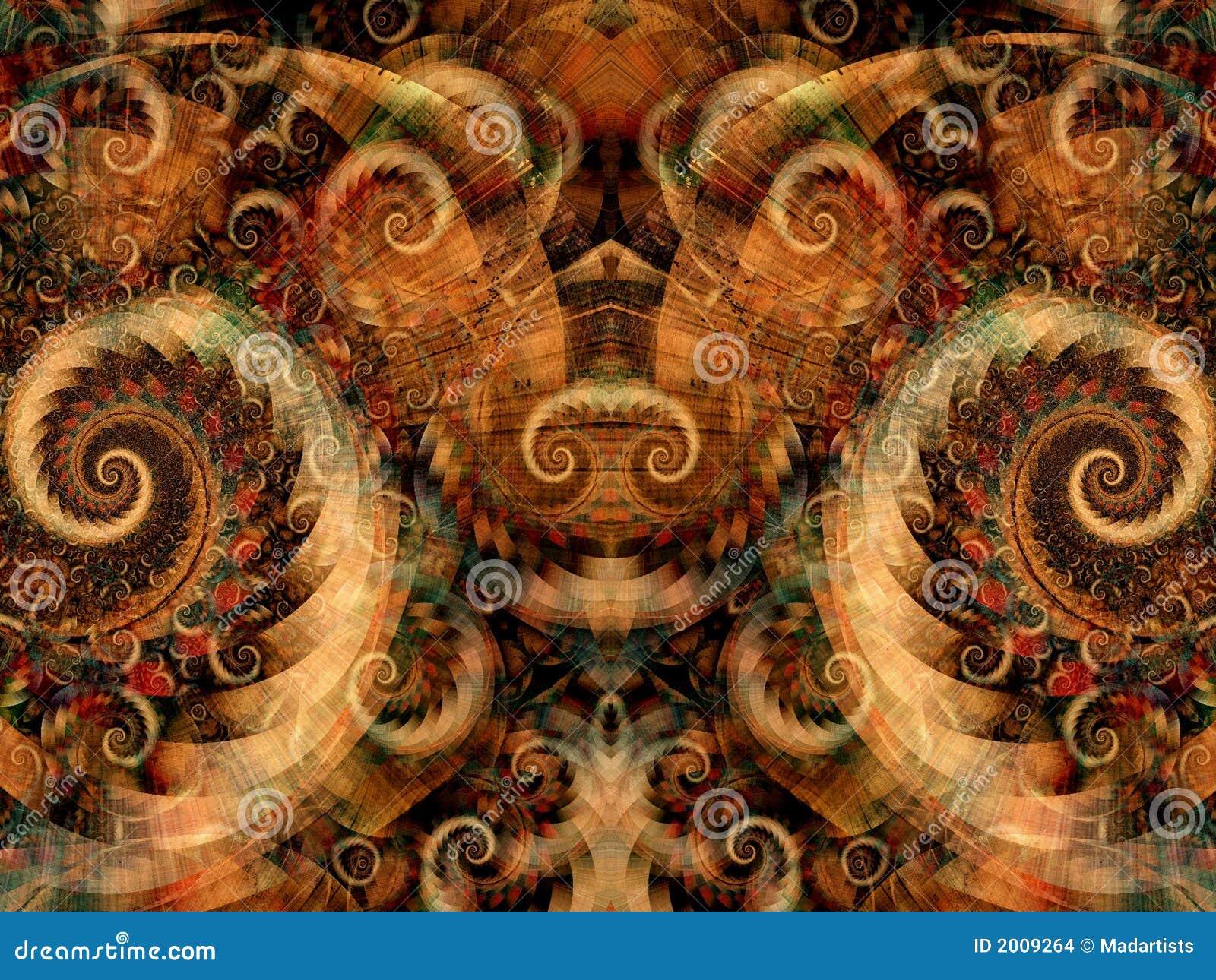 Textura simétrica de la fantasía
