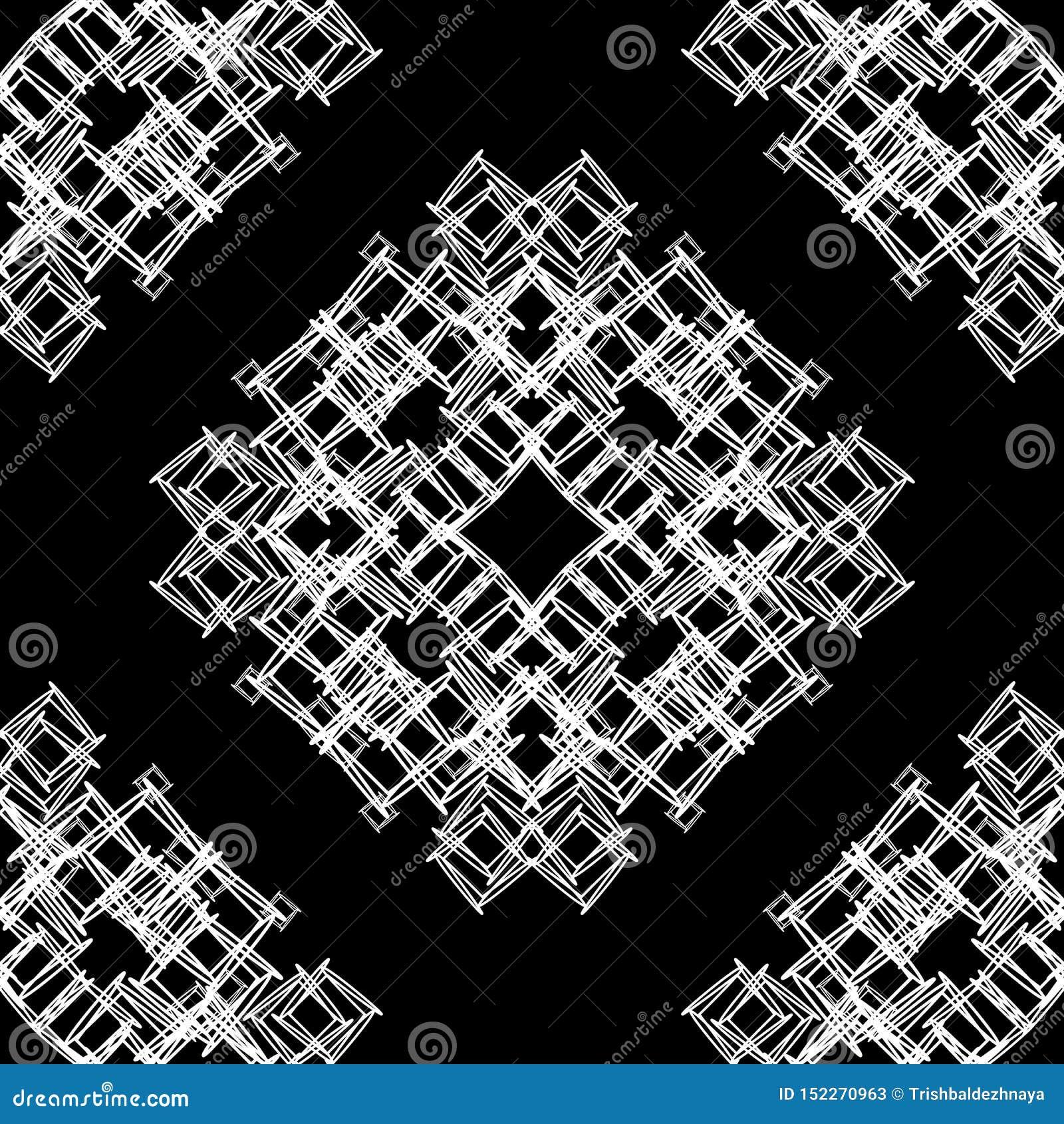 Textura sin fin del modelo blanco y negro ornamental inconsútil del vector