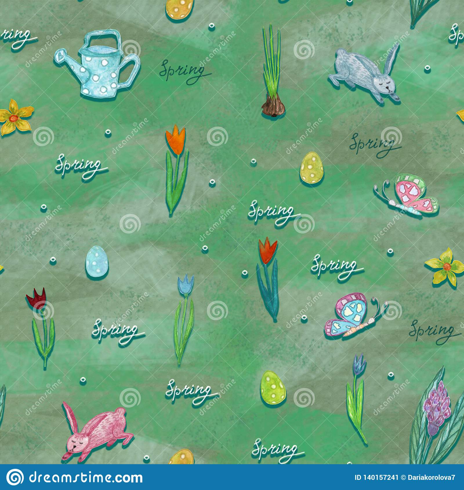 Textura sin fin para el diseño de la primavera, decoración, tarjetas de felicitación
