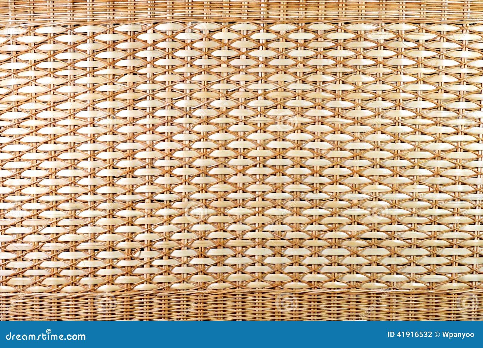 Textura tailandesa de la cesta de mimbre
