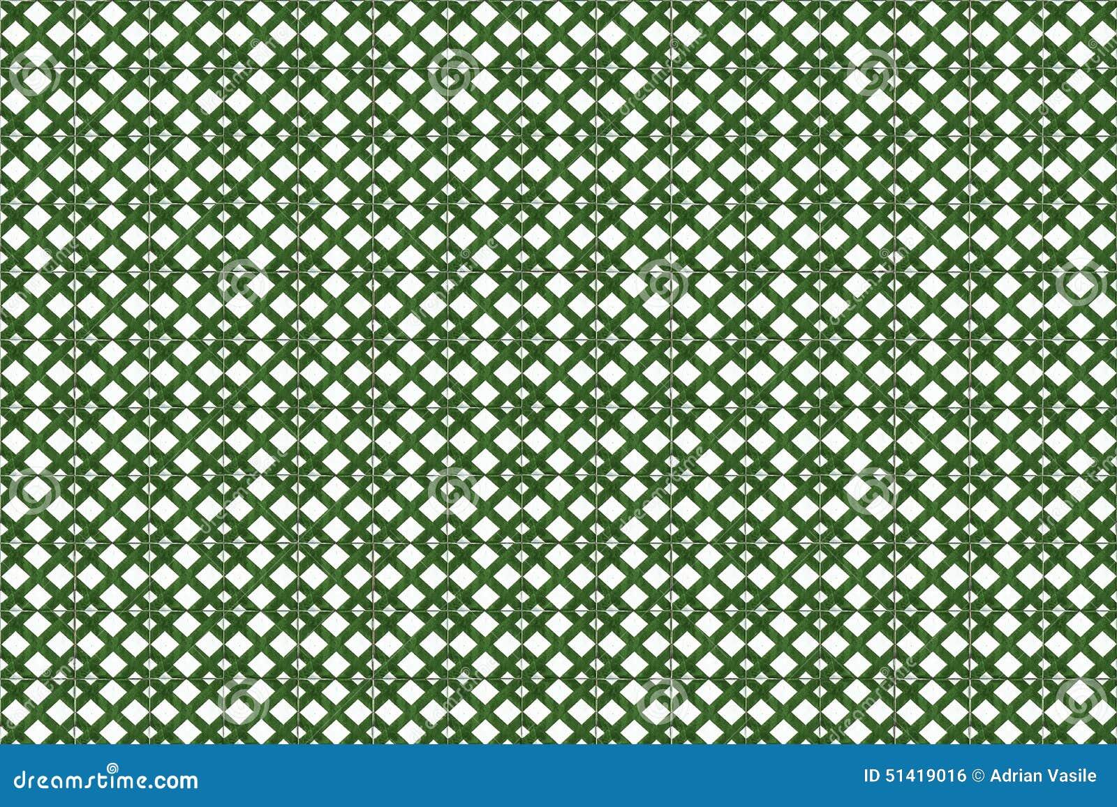textura verde do azulejo do mosaico em lisboa foto de