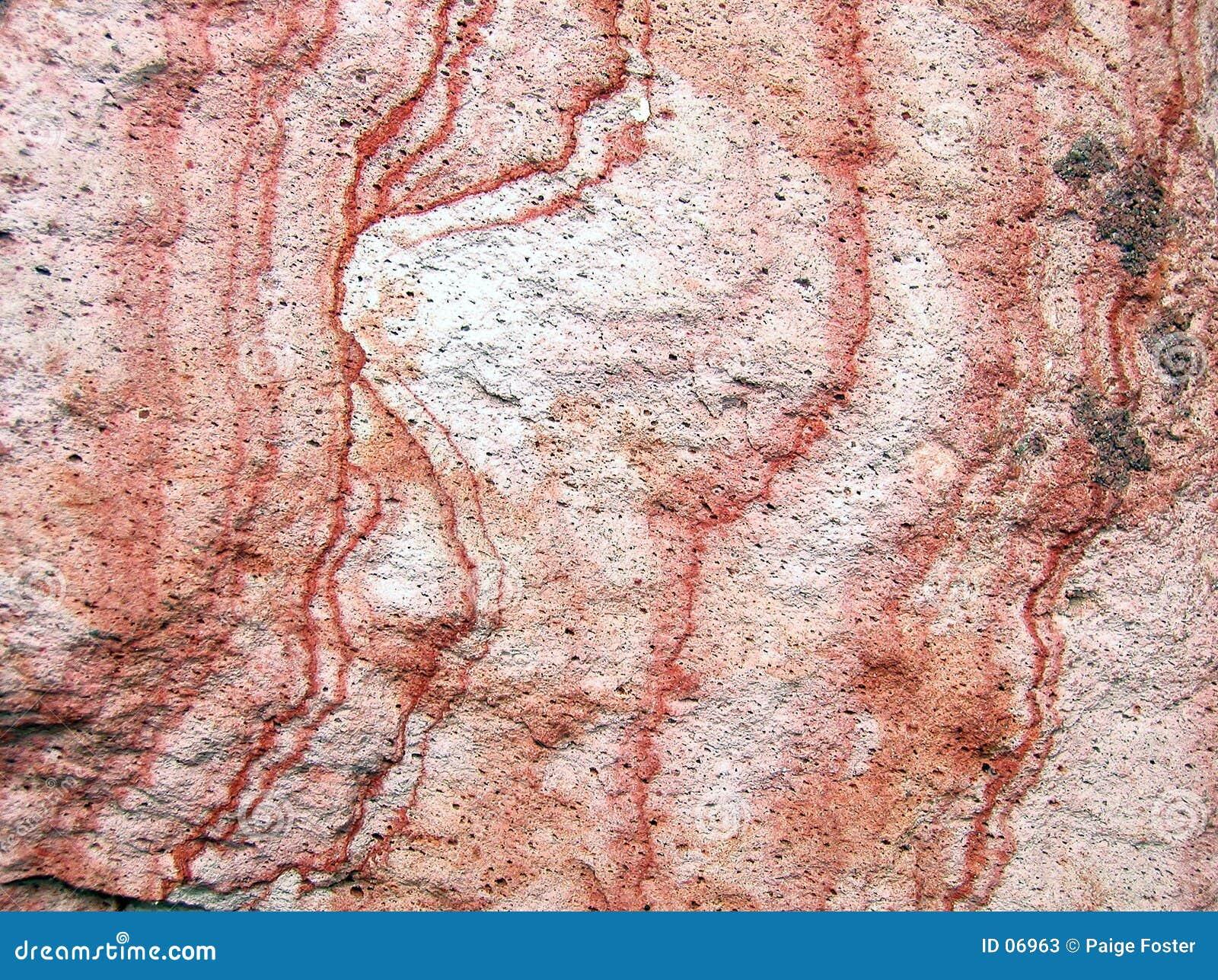 Textura vermelha da rocha