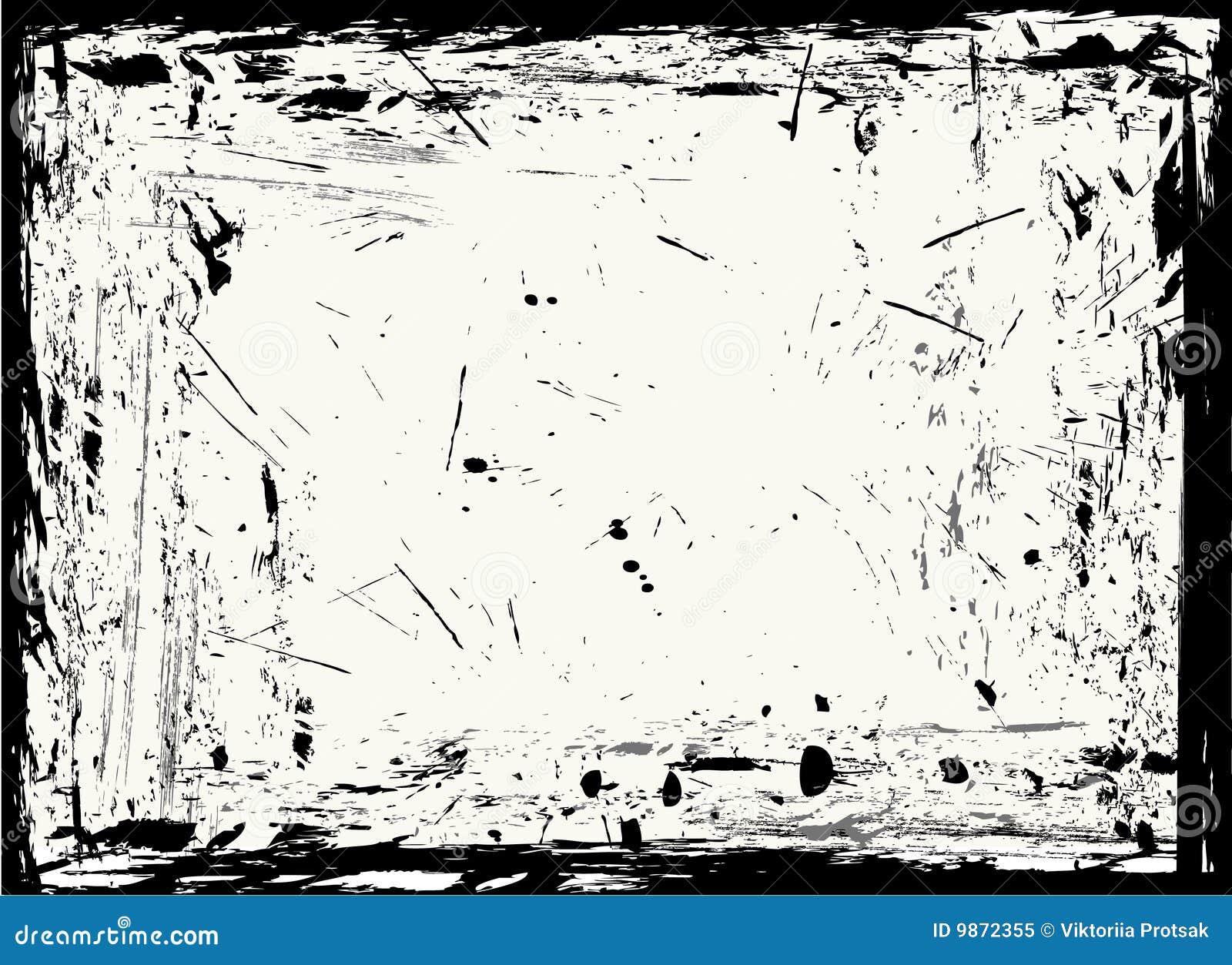 Textura y marco de Grunge. ilustración del vector. Ilustración de ...