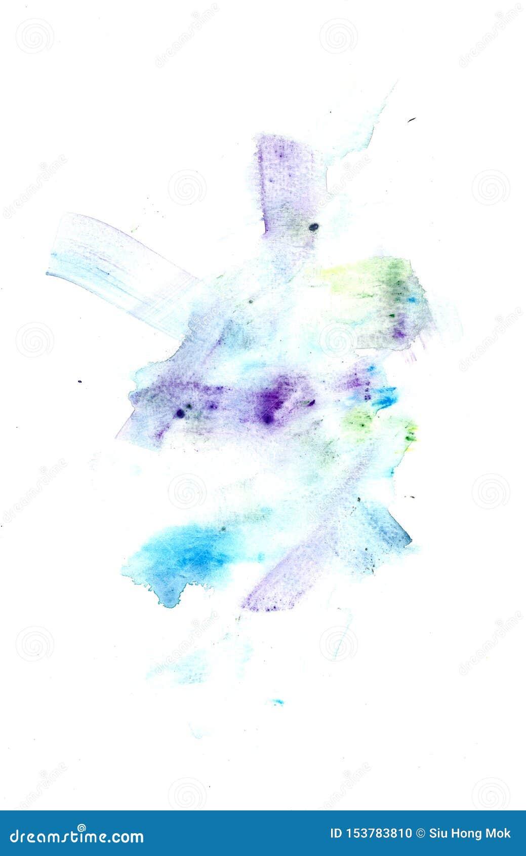 Texturas abstratas das belas artes da pintura do Watercolour