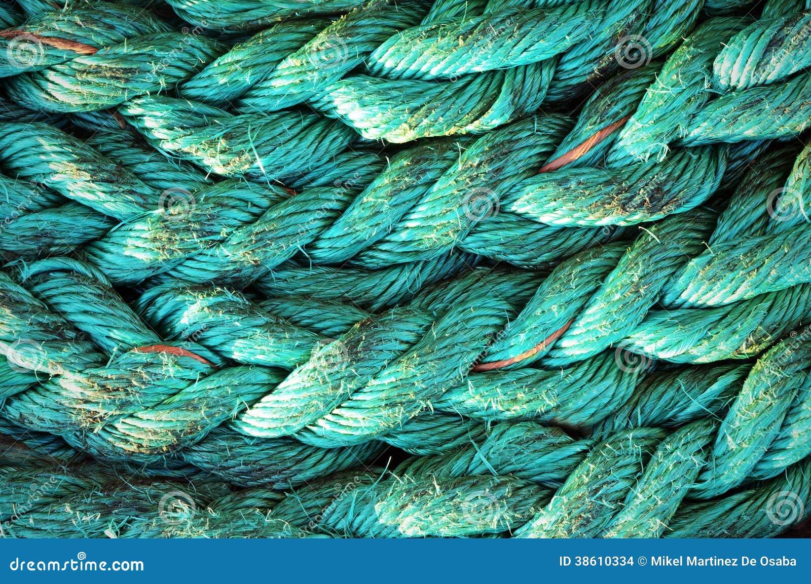 Texturas da corda no porto