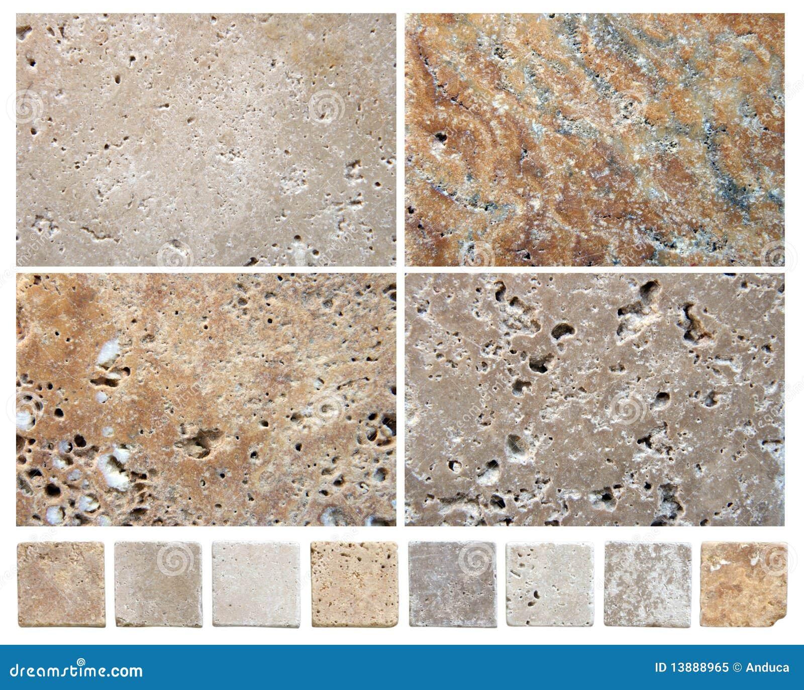 Texturas de pedra naturais