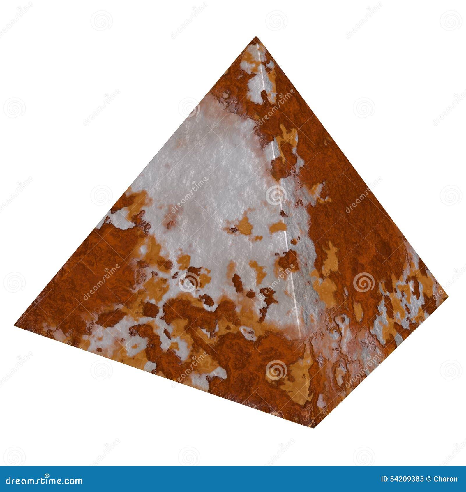 Texturas que aherrumbran aherrumbradas del metal de la pirámide