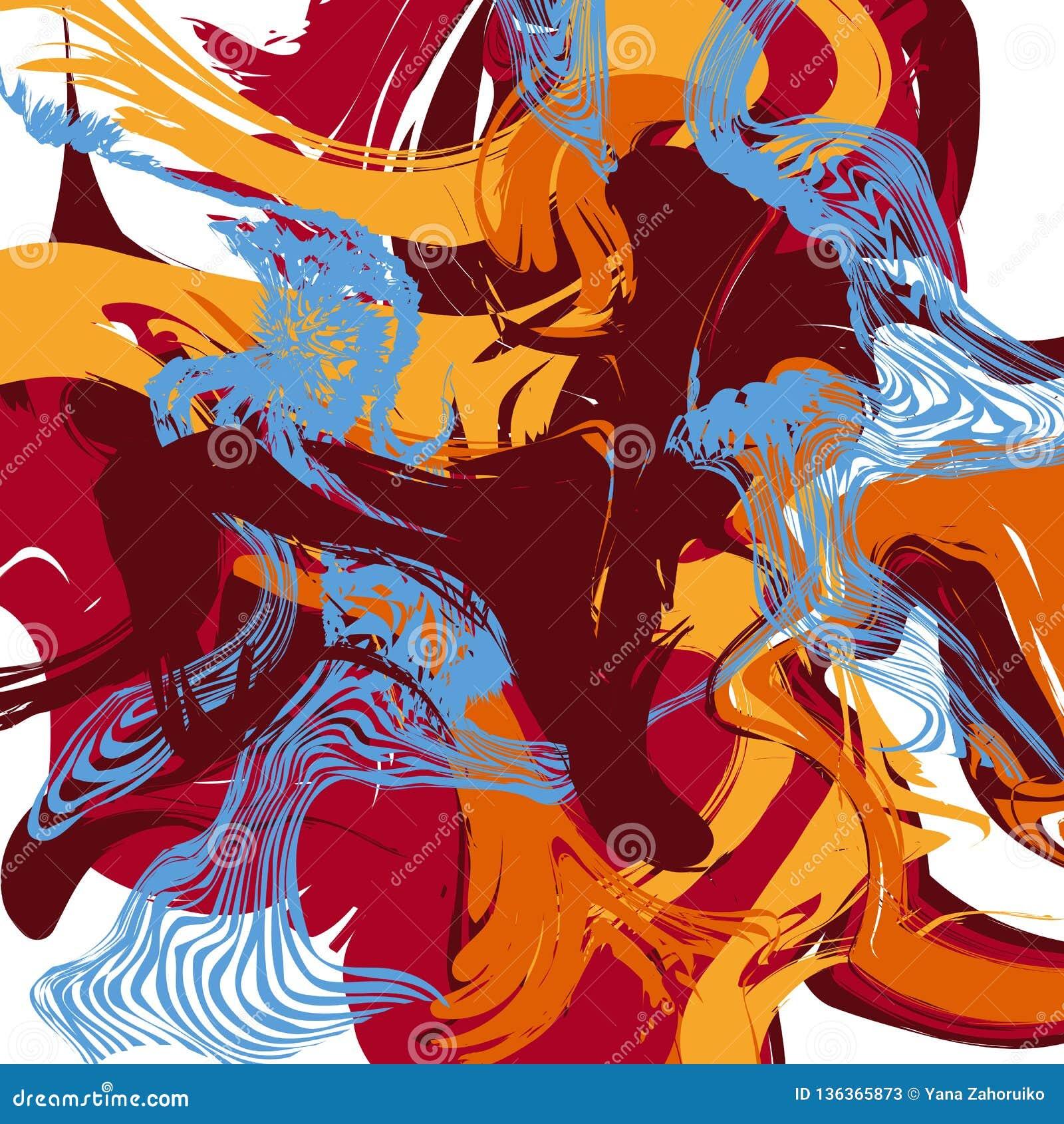 Texture abstraite colorée Fond créateur