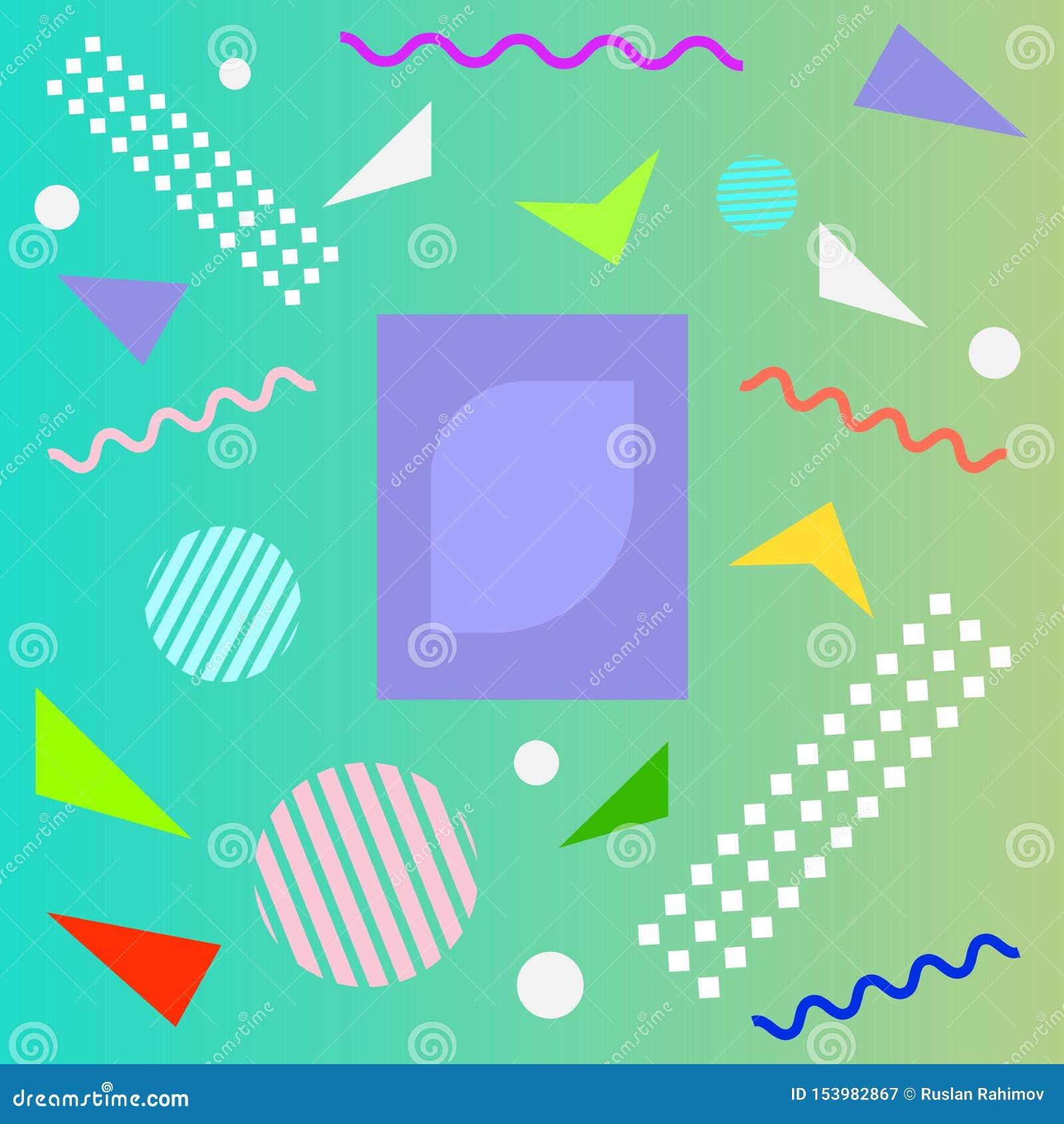 Texture abstraite de bande dessin?e de mod?le de couleur d amusement pour le fond g?om?trique de griffonnage Forme de tendance de