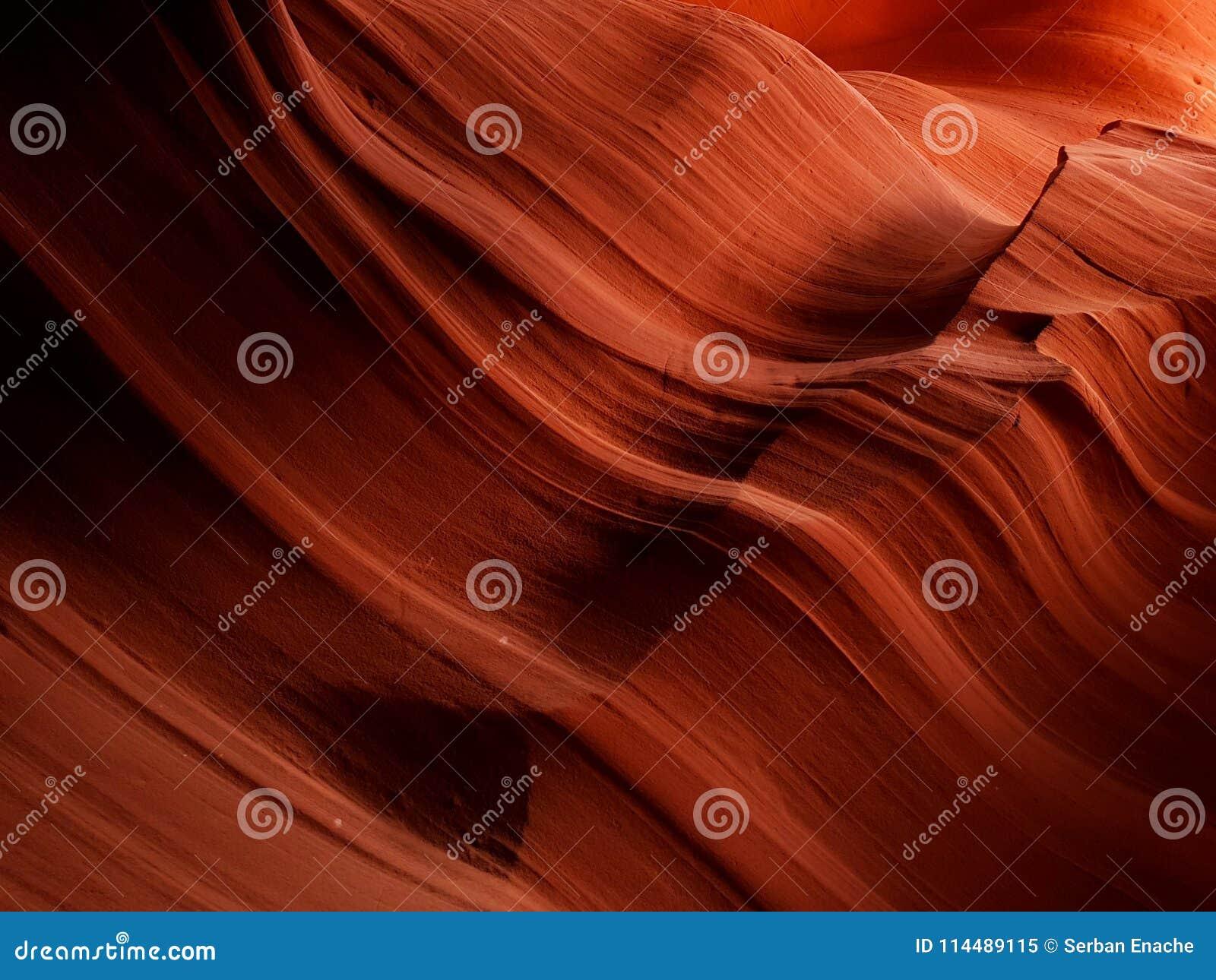 Texture abstraite de canyon supérieur d antilope, Arizona