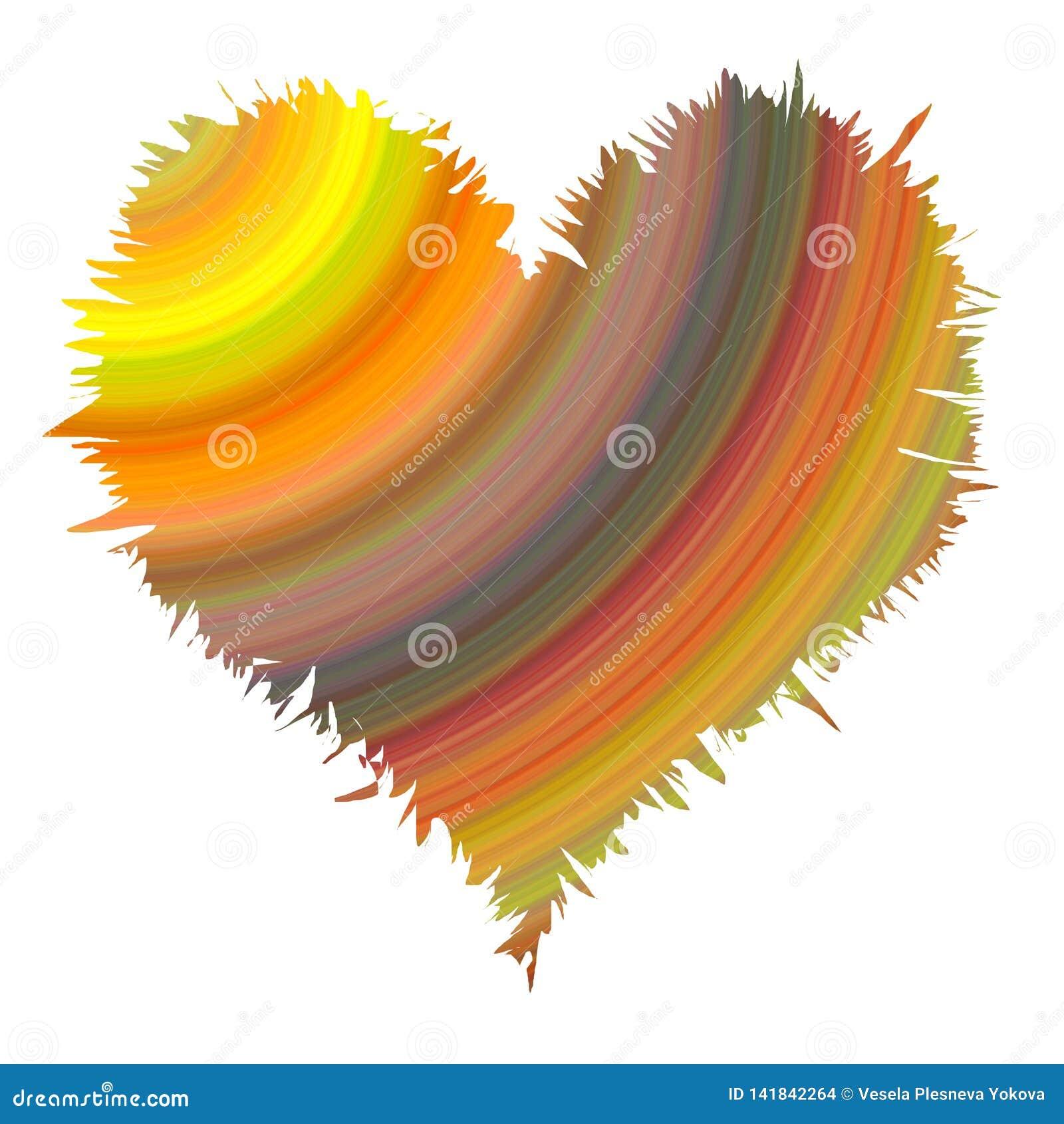 Texture abstraite de coeur dans des couleurs douces en pastel débordantes