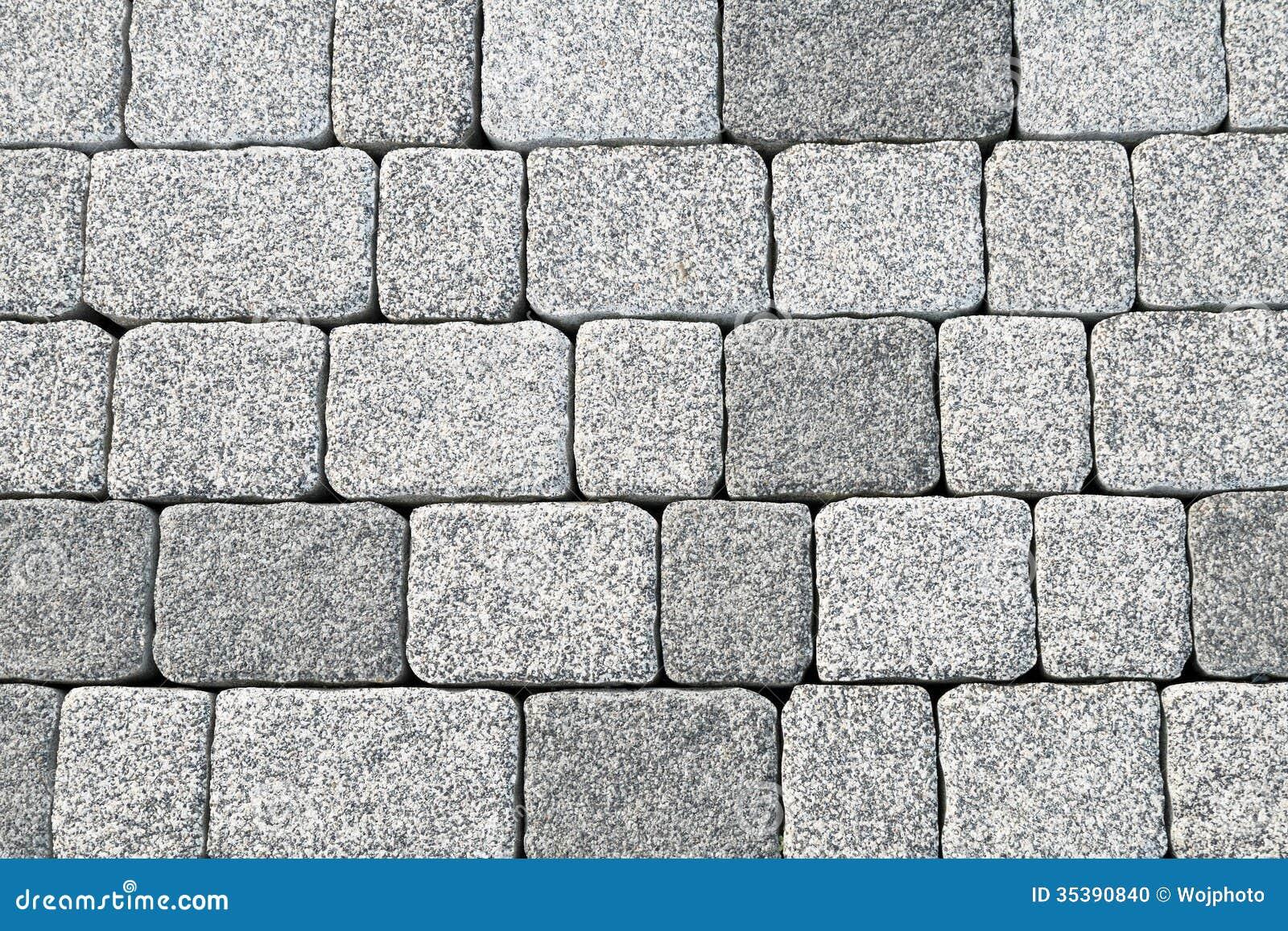Texture abstraite de trottoir de pavé rond