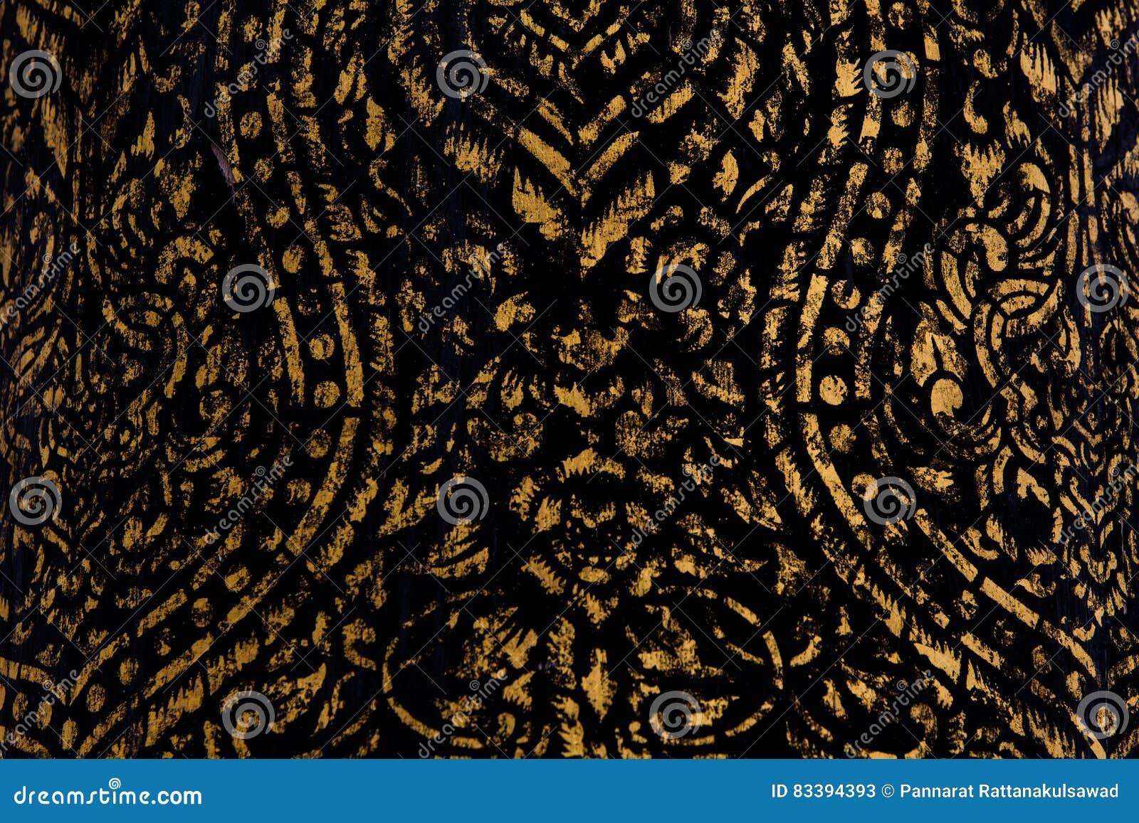 Texture antique de sculpture de l Asie d art thaïlandais