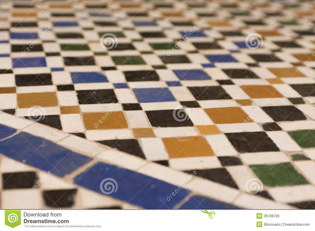 Broken tiles mosaic floor or wall background texture stock photo - Texture Of A Arabic Floor Royalty Free Stock Images