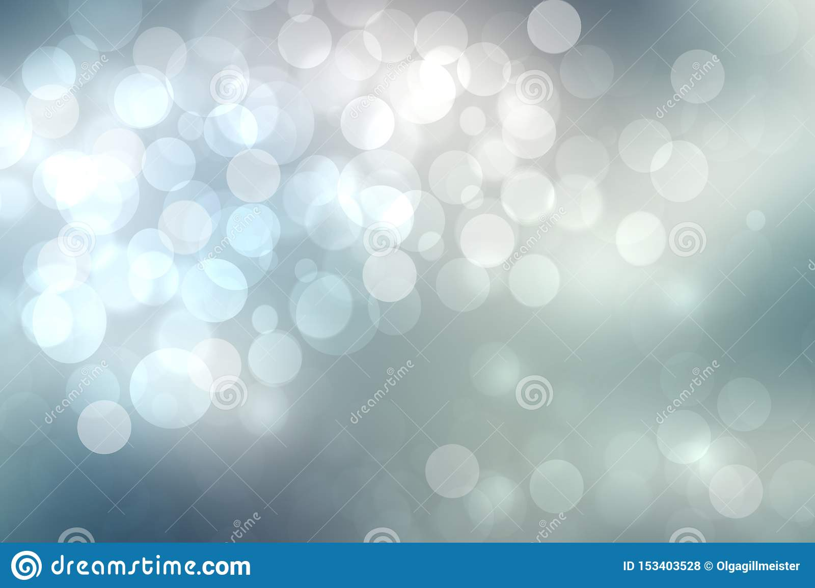 Abstract Festive Light Blue Silver Bokeh Background Texture With Colorful Circles And Bokeh Lights Beautiful Backdrop With Space Photo Stock Image Du Light Background 153403528