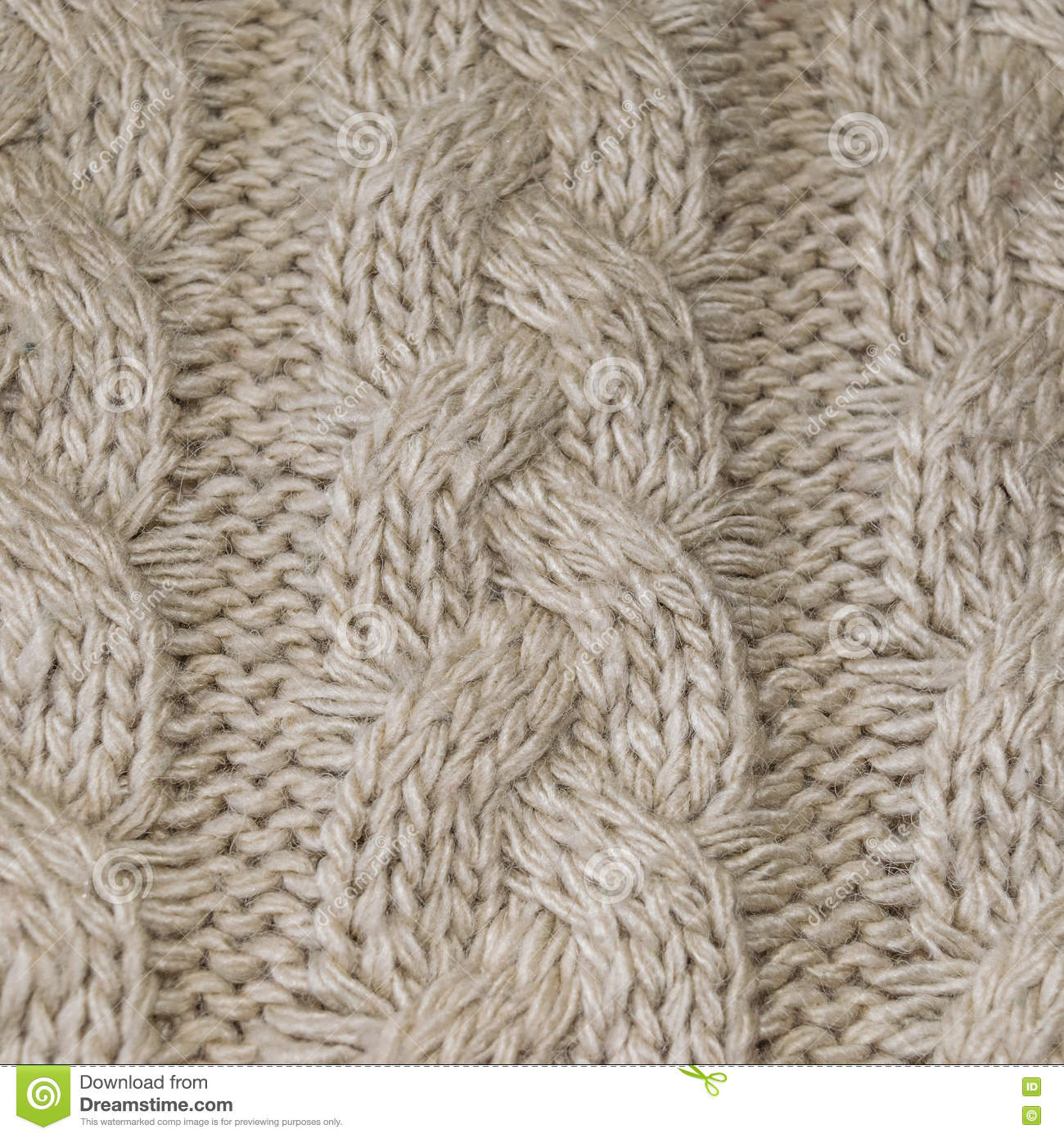 Texture Artificial Wool With Knitting Patterns. Stock Photo - Image ...