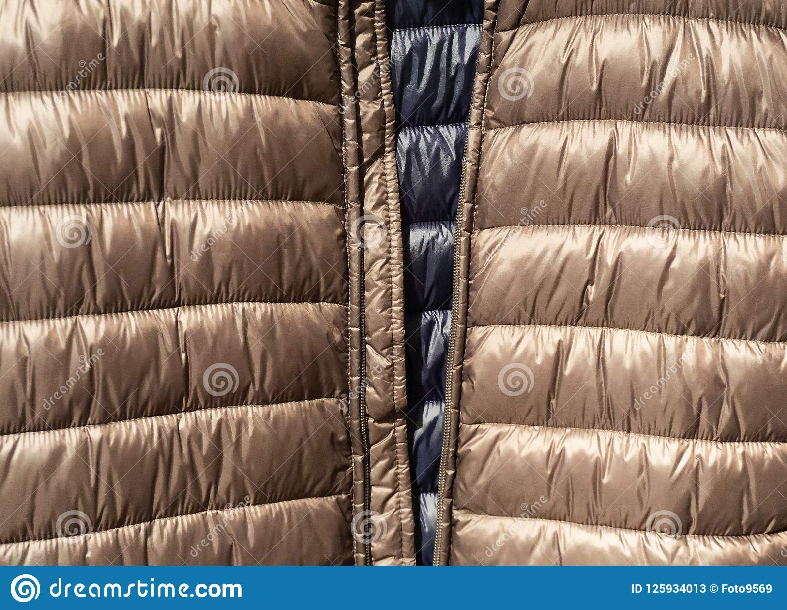 Texture and background of Down jackets fabric
