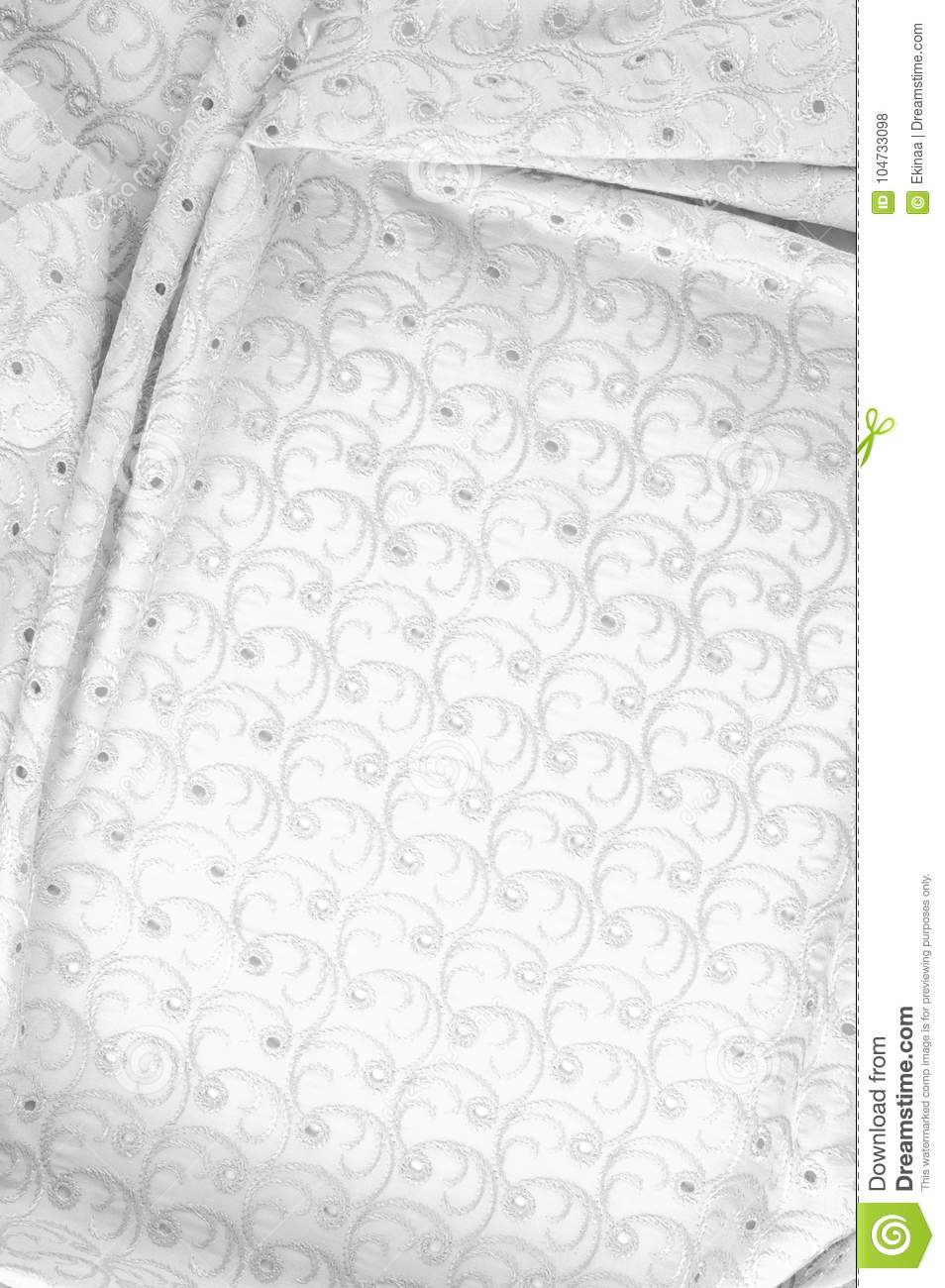Texture Background Of Fabric  Cloth With Punched Circles