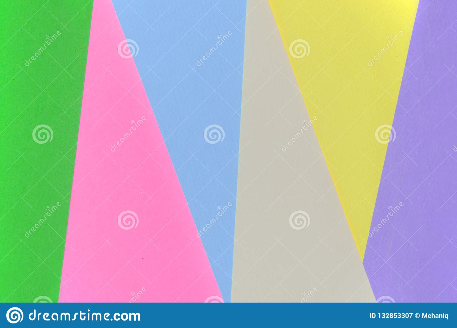 Texture background of fashion pastel colors. Pink, violet, yellow, green, beige and blue geometric pattern papers. minimal