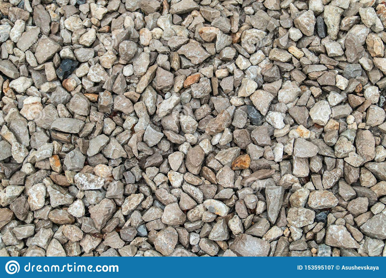 Texture background of light gravel and stones
