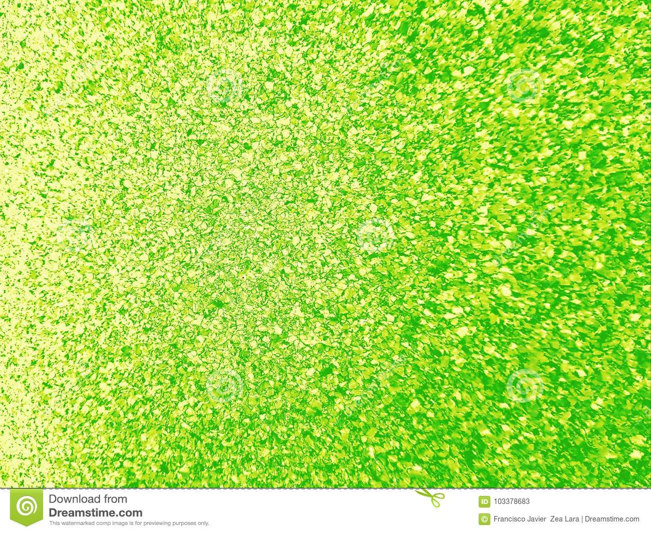 texture background wall with paint sparks yellow and green colors