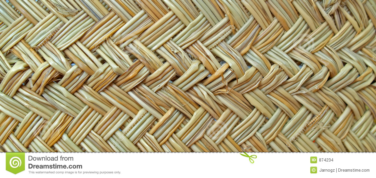 Texture of a basket woven from grass cord